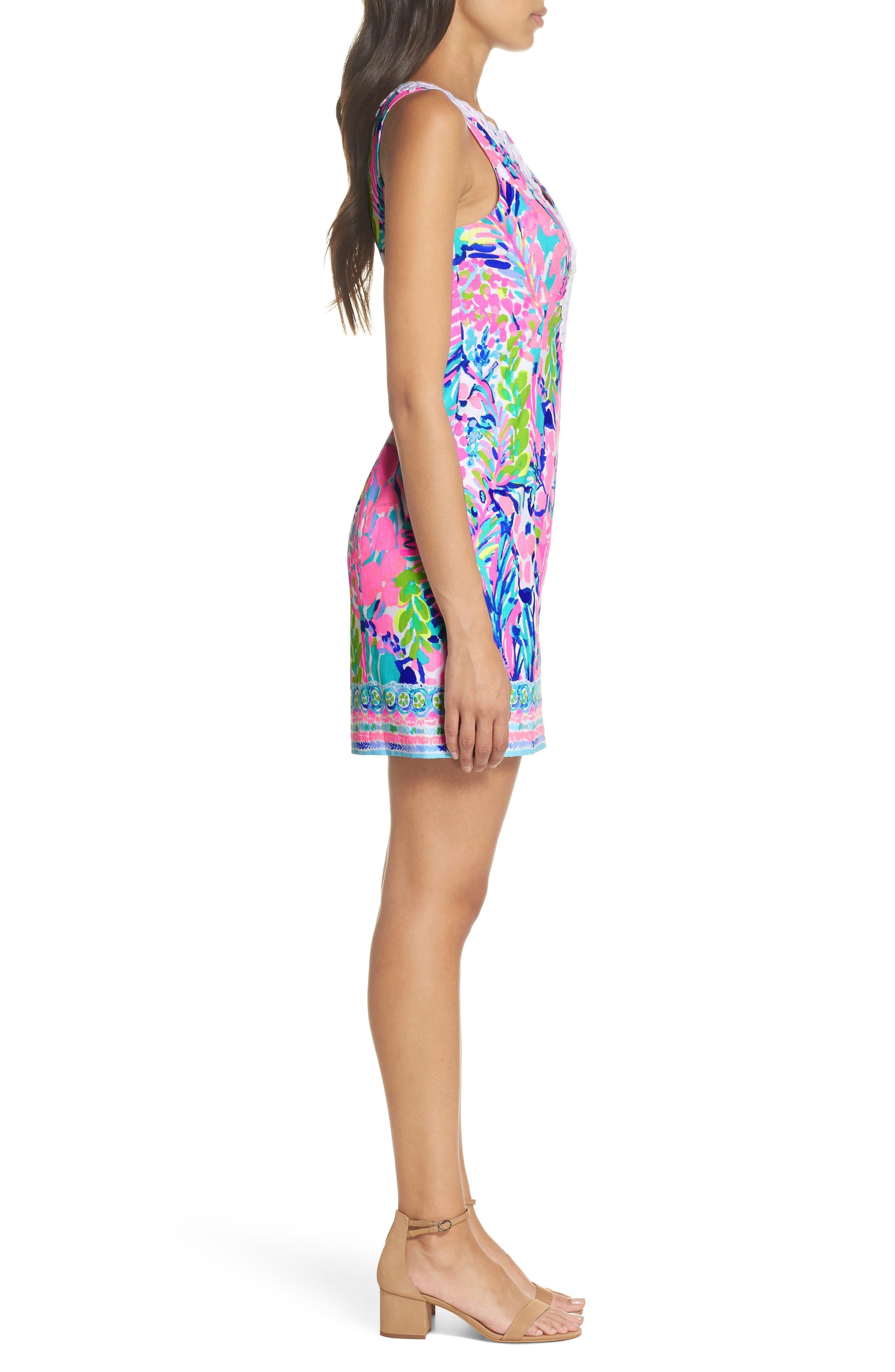 Gabby Tropical Print Dress,                             Alternate thumbnail 3, color,                             699