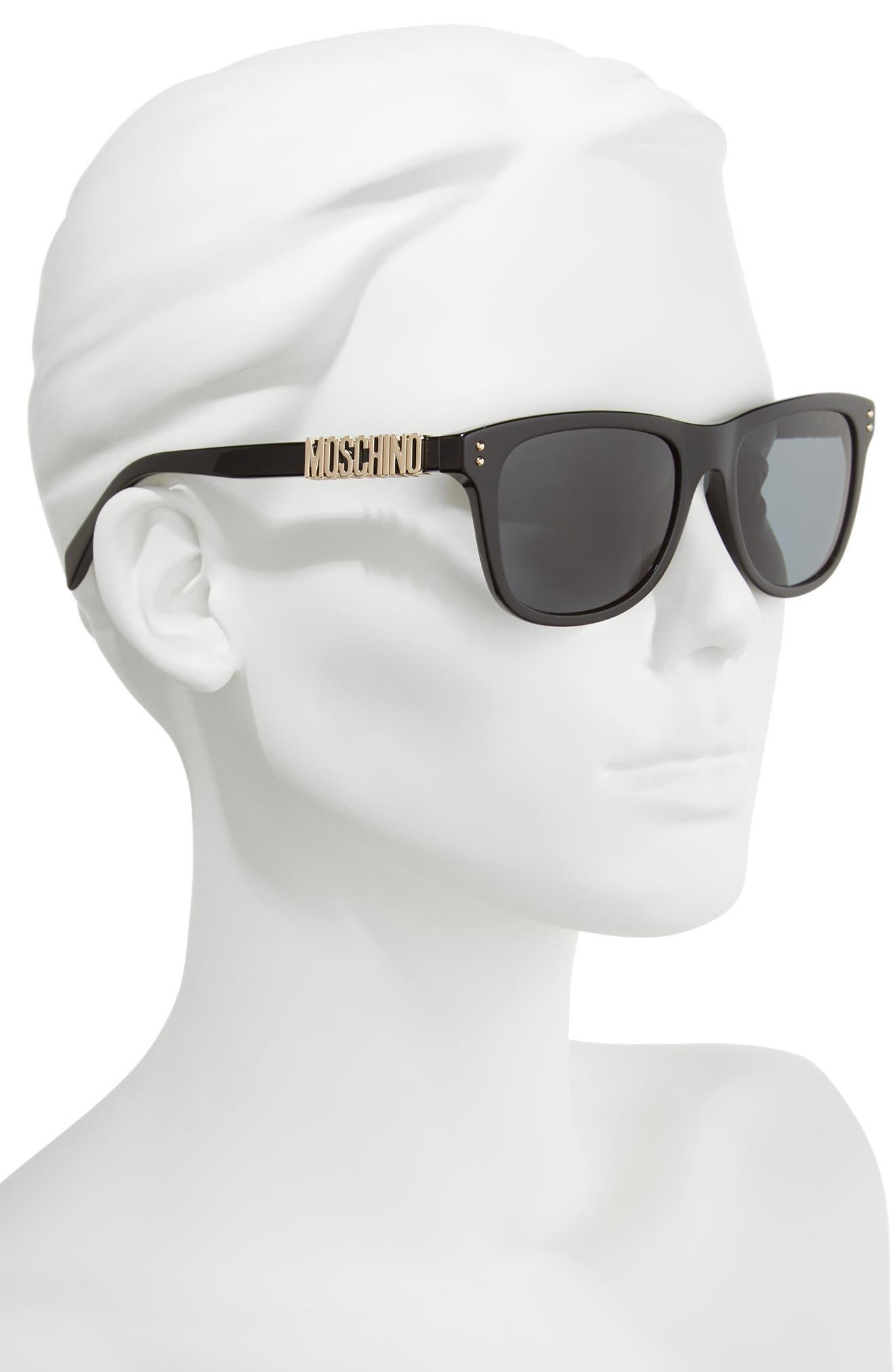Basic 53mm Polarized Sunglasses,                             Alternate thumbnail 2, color,                             BLACK