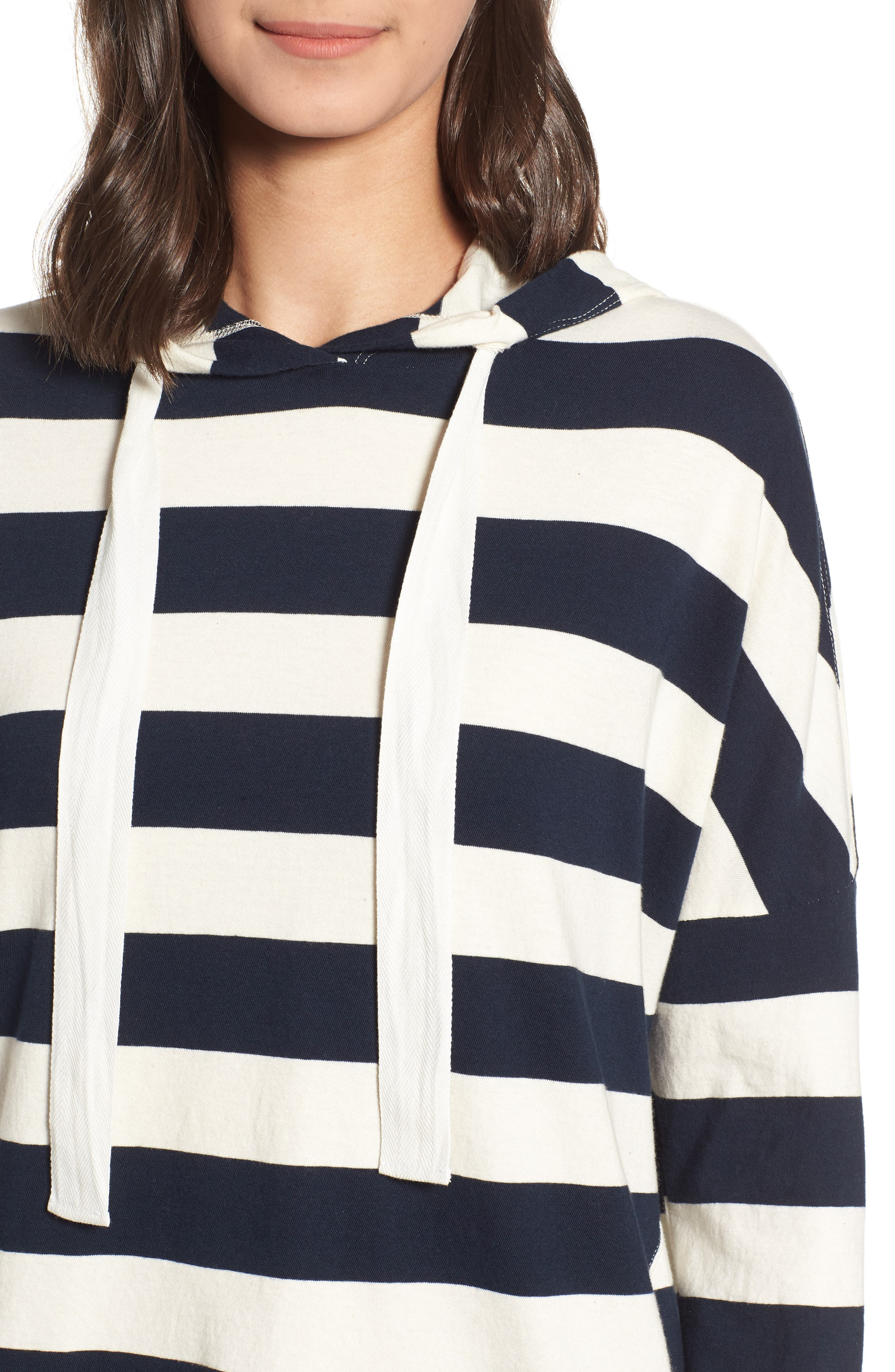 Stripe Hoodie,                             Alternate thumbnail 4, color,                             900