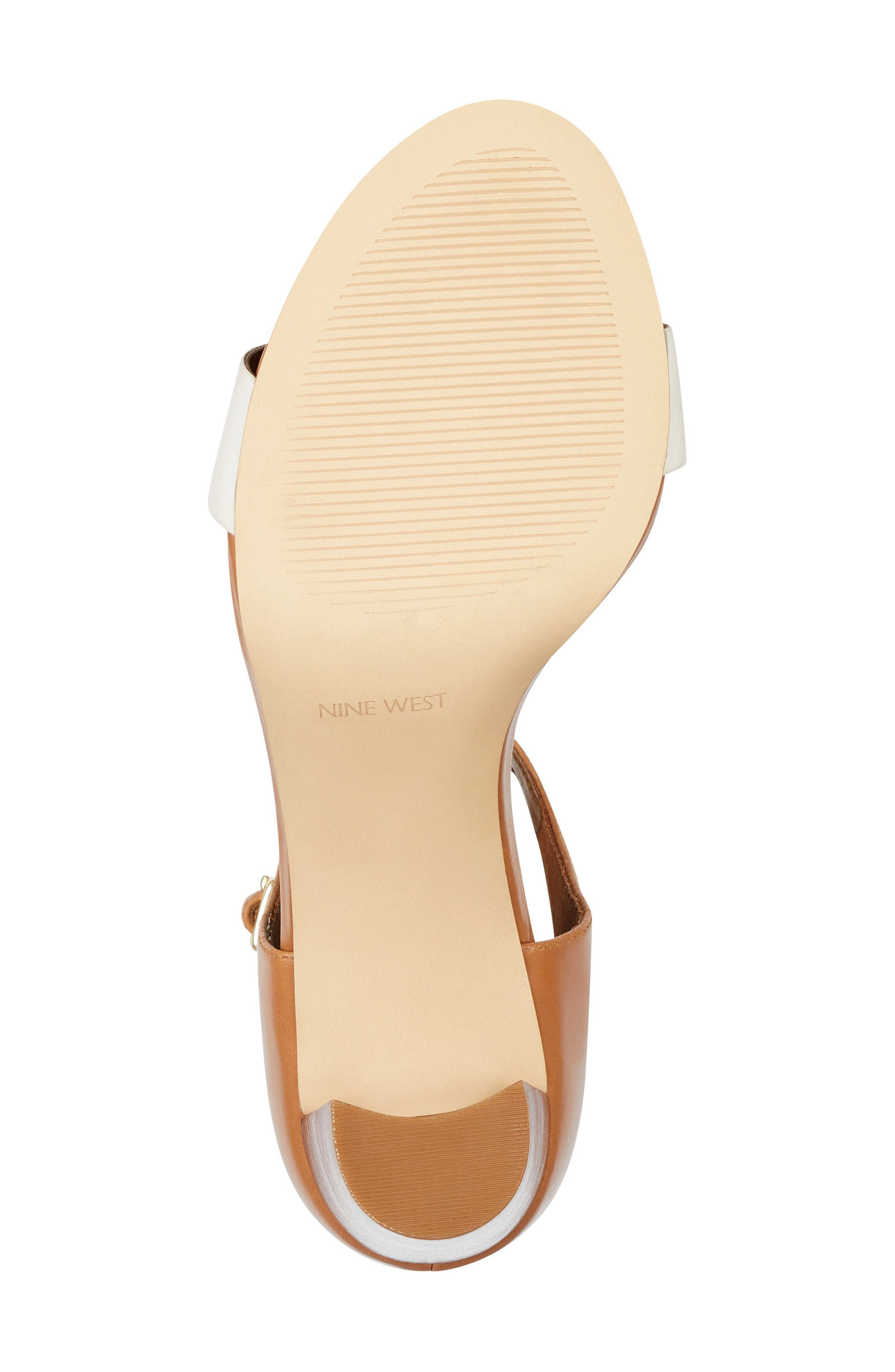 Nunzaya Ankle Strap Sandal,                             Alternate thumbnail 6, color,                             OFF WHITE/ NATURAL LEATHER