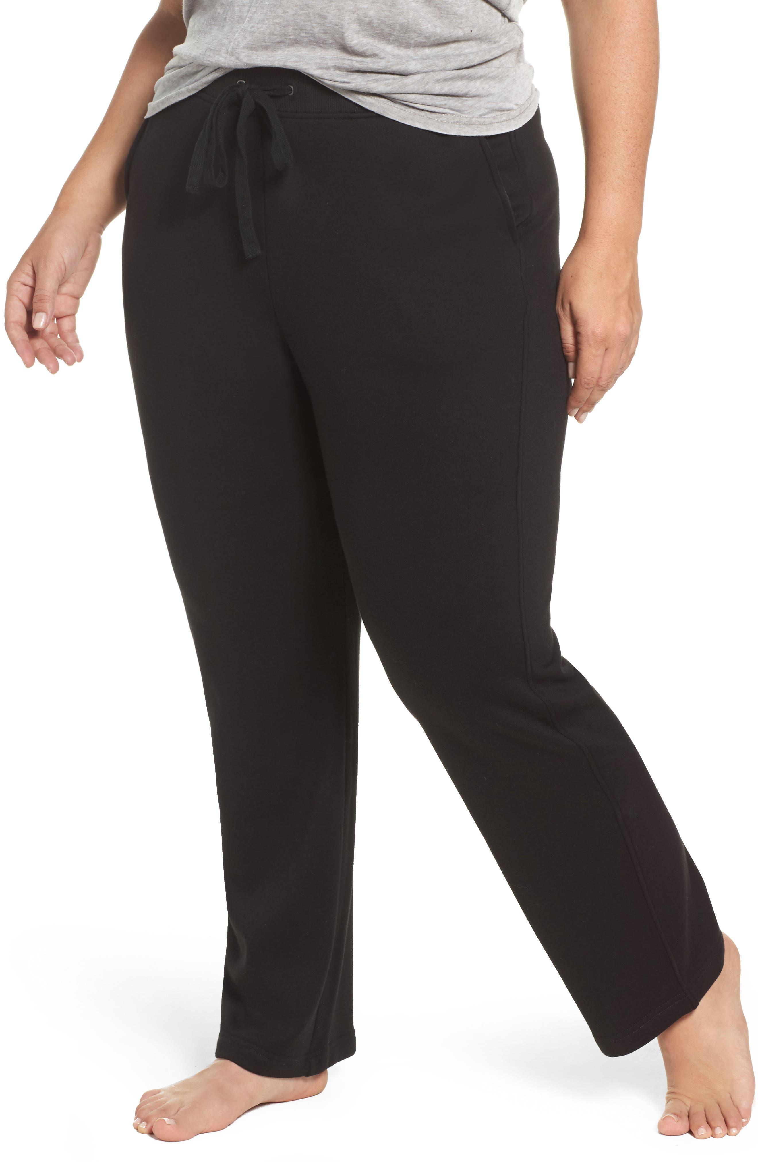 Penny Fleece Sweatpants,                             Main thumbnail 1, color,                             BLACK