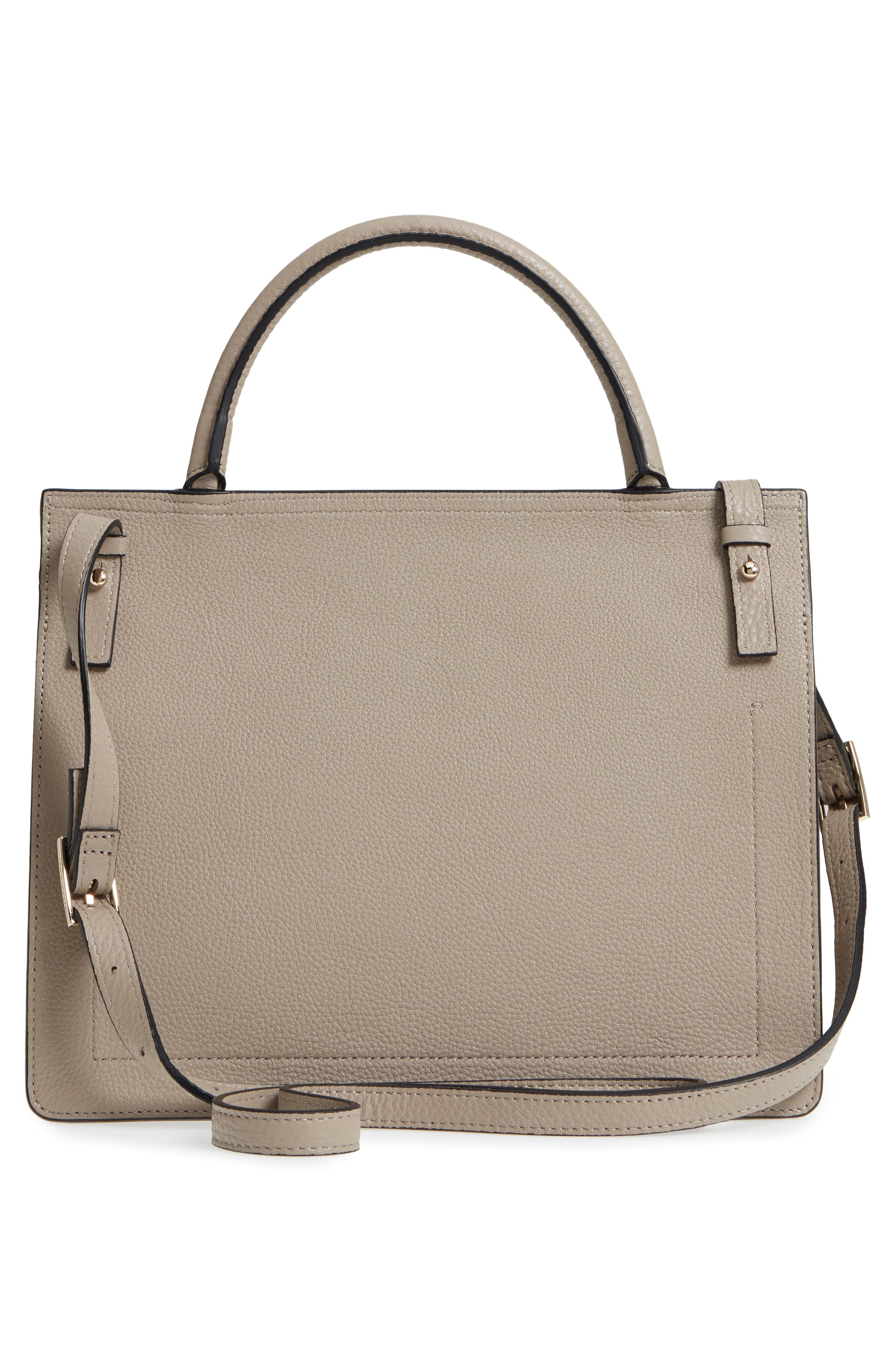 Prism Convertible Satchel,                             Alternate thumbnail 4, color,                             TAUPE