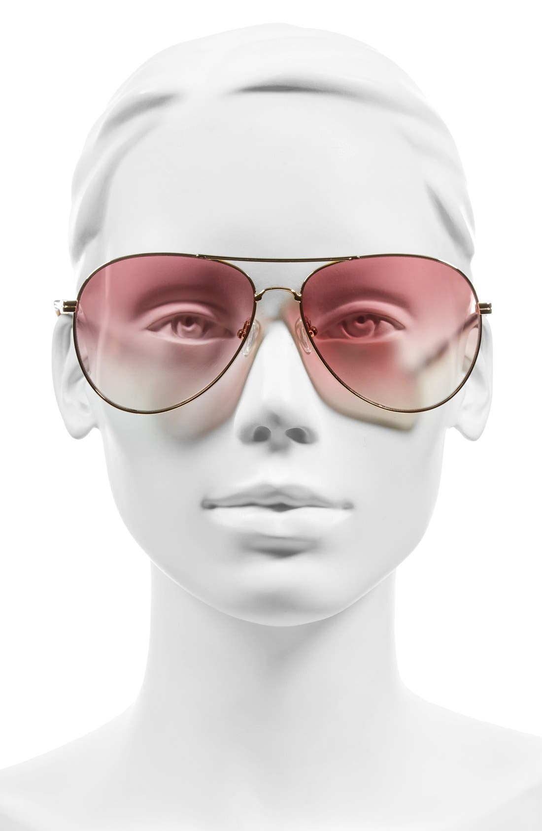 Lodi 62mm Mirrored Aviator Sunglasses,                             Alternate thumbnail 17, color,