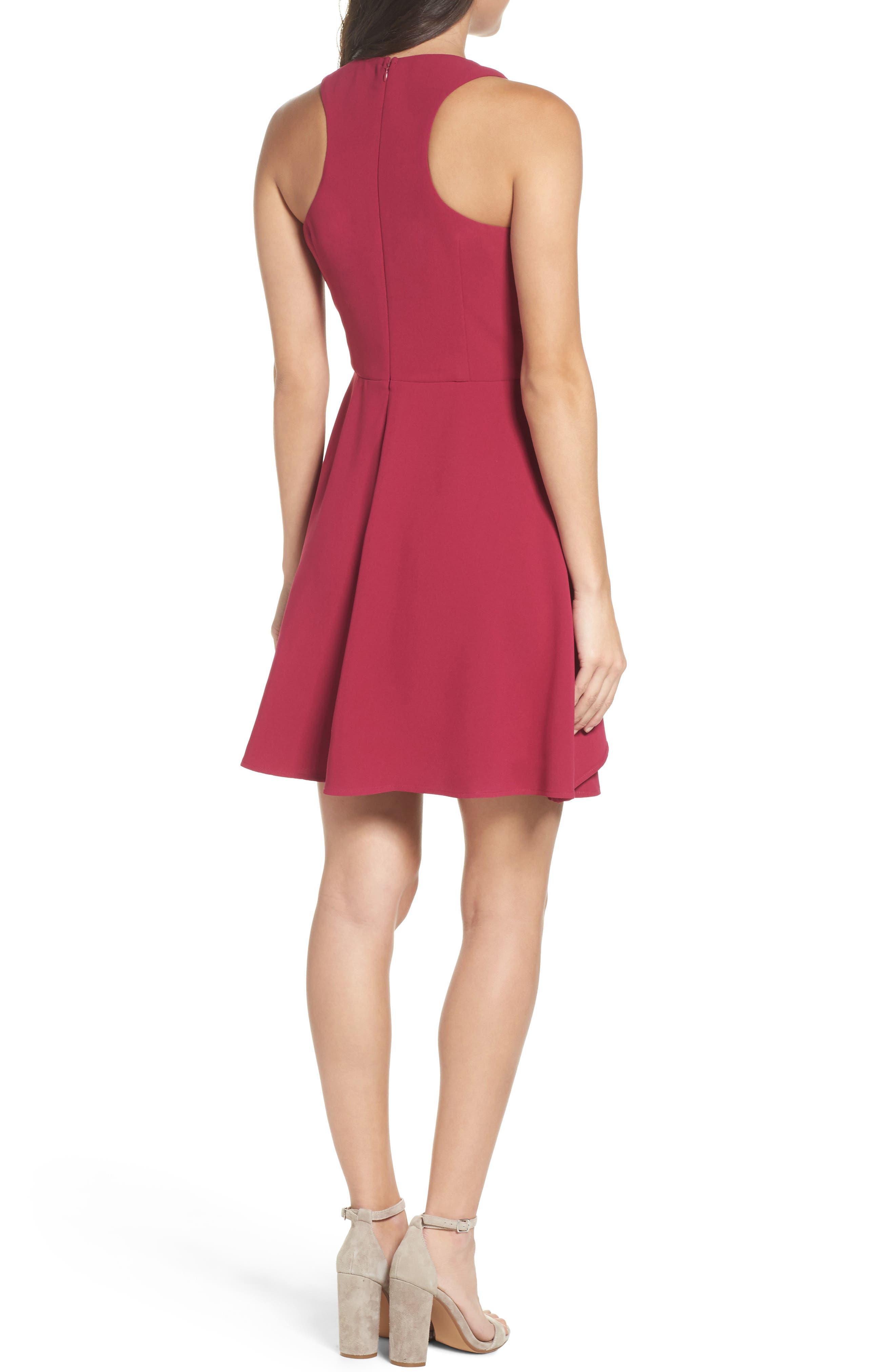 Athena Fit & Flare Dress,                             Alternate thumbnail 6, color,