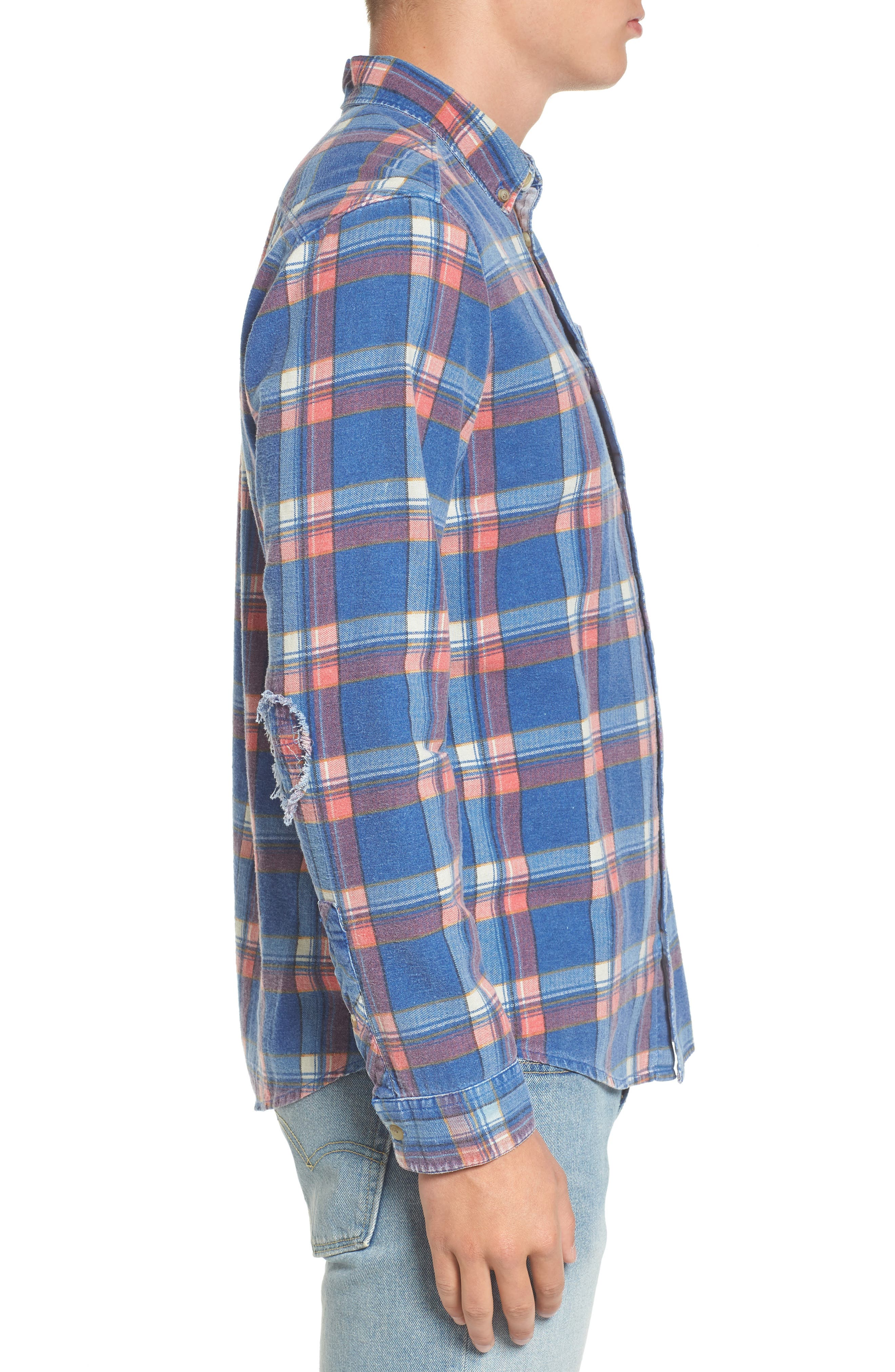 x Kevin Long Plaid Shirt,                             Alternate thumbnail 3, color,                             462
