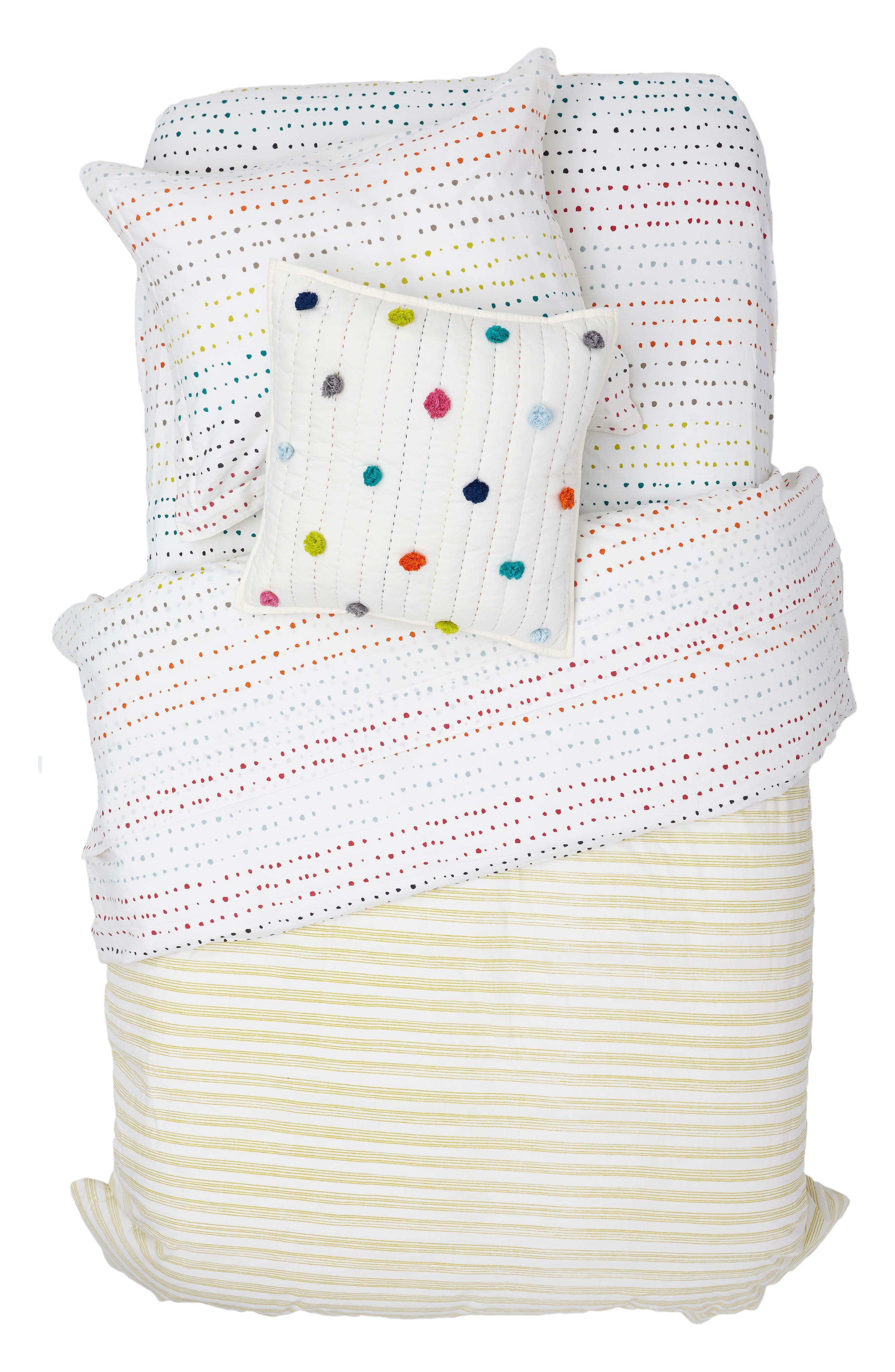 Painted Dots Reversible Duvet Cover,                             Alternate thumbnail 2, color,                             100
