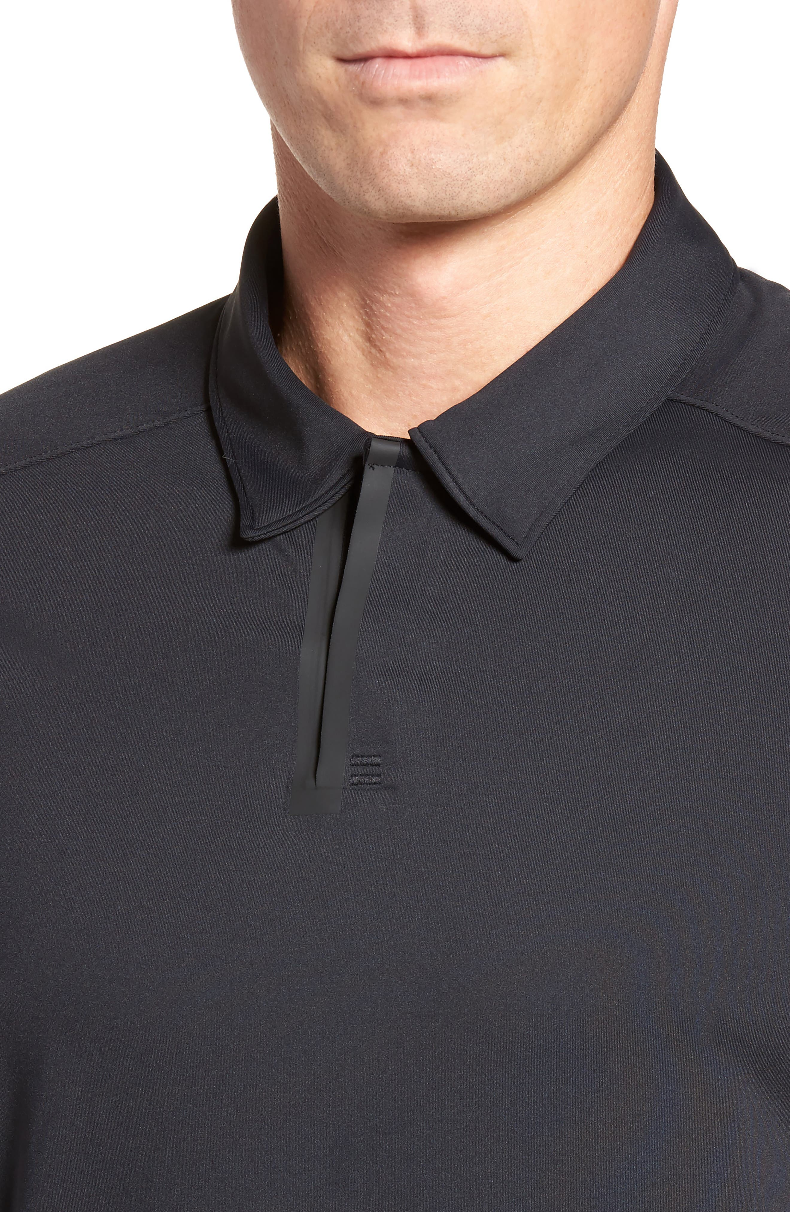 Velocity Polo Shirt,                             Alternate thumbnail 4, color,                             001
