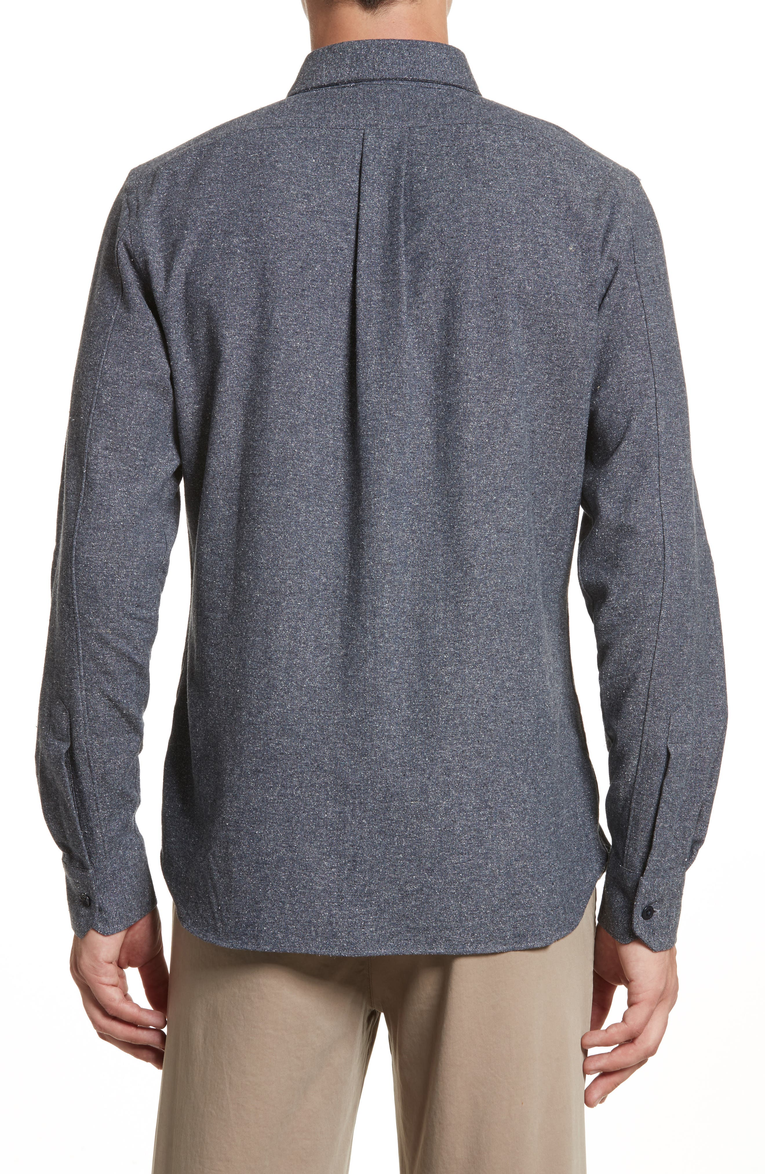 Silk Blend Speckled Work Shirt,                             Alternate thumbnail 3, color,                             410