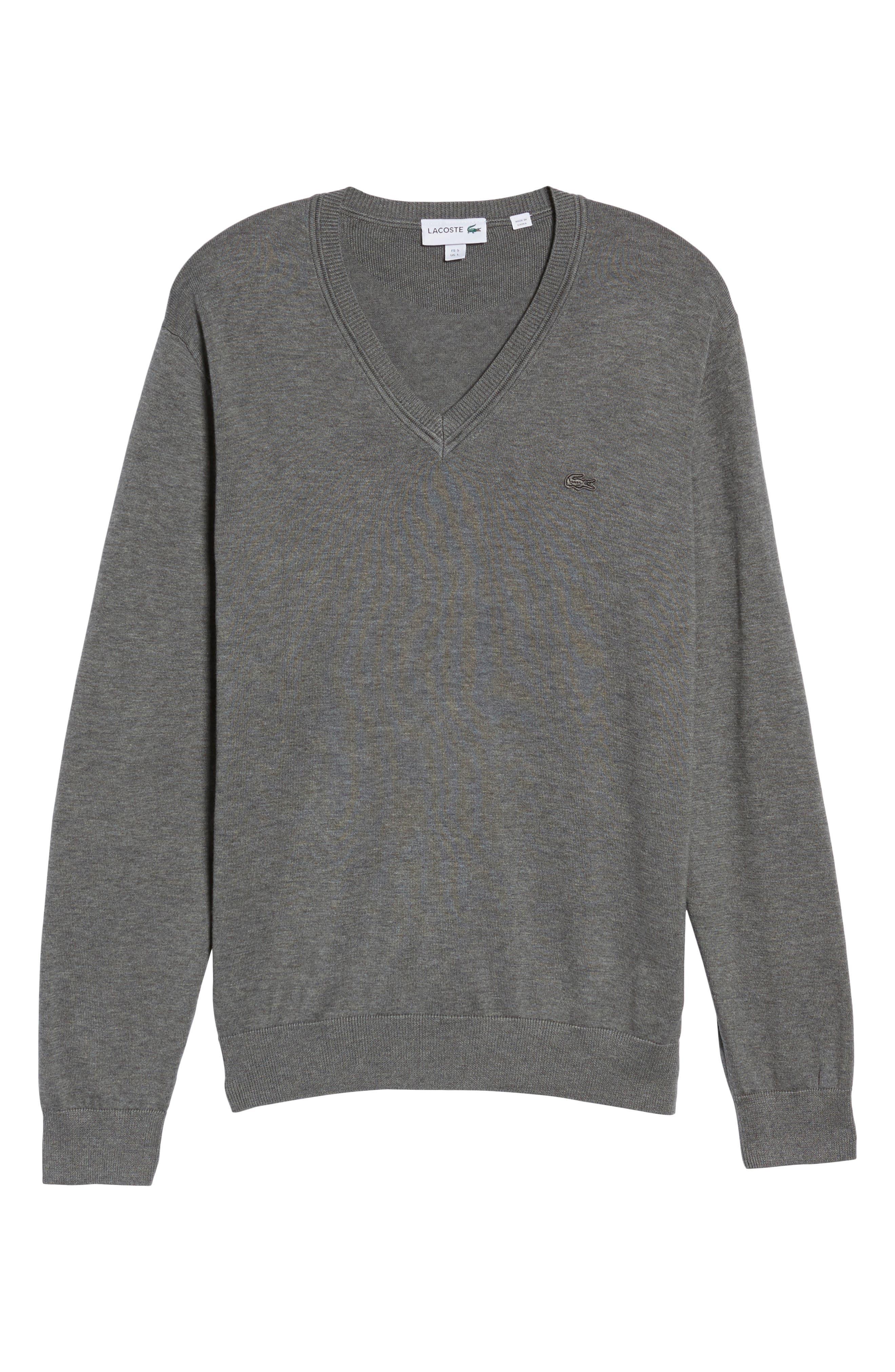 Cotton Jersey V-Neck Sweater,                             Alternate thumbnail 31, color,
