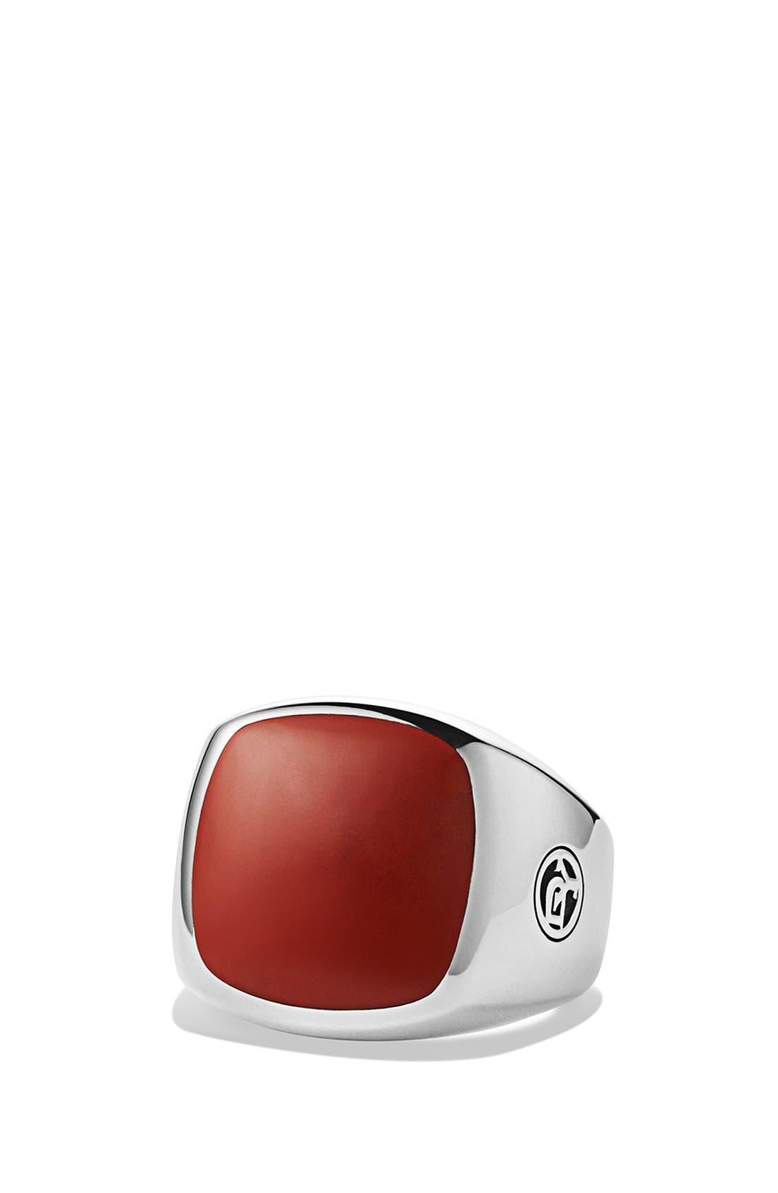 'Chevron' Signet Ring,                             Main thumbnail 5, color,