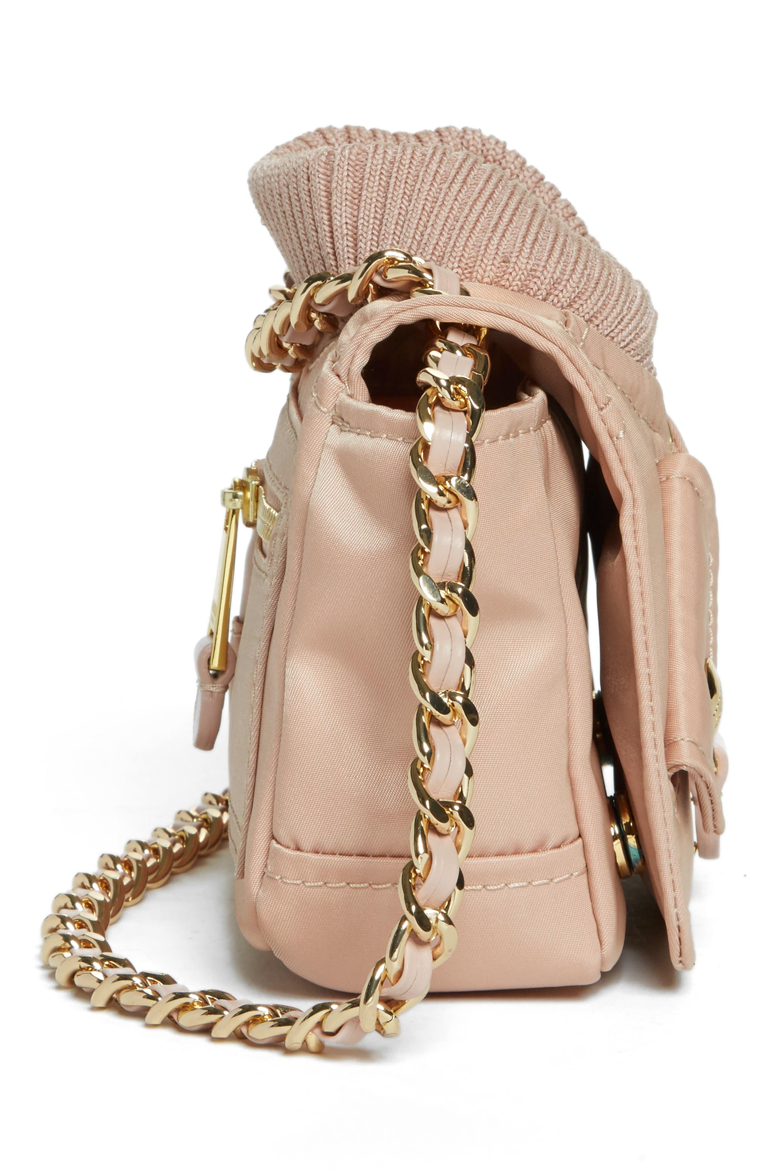 Small Biker Jacket Nylon Shoulder Bag,                             Alternate thumbnail 5, color,                             683