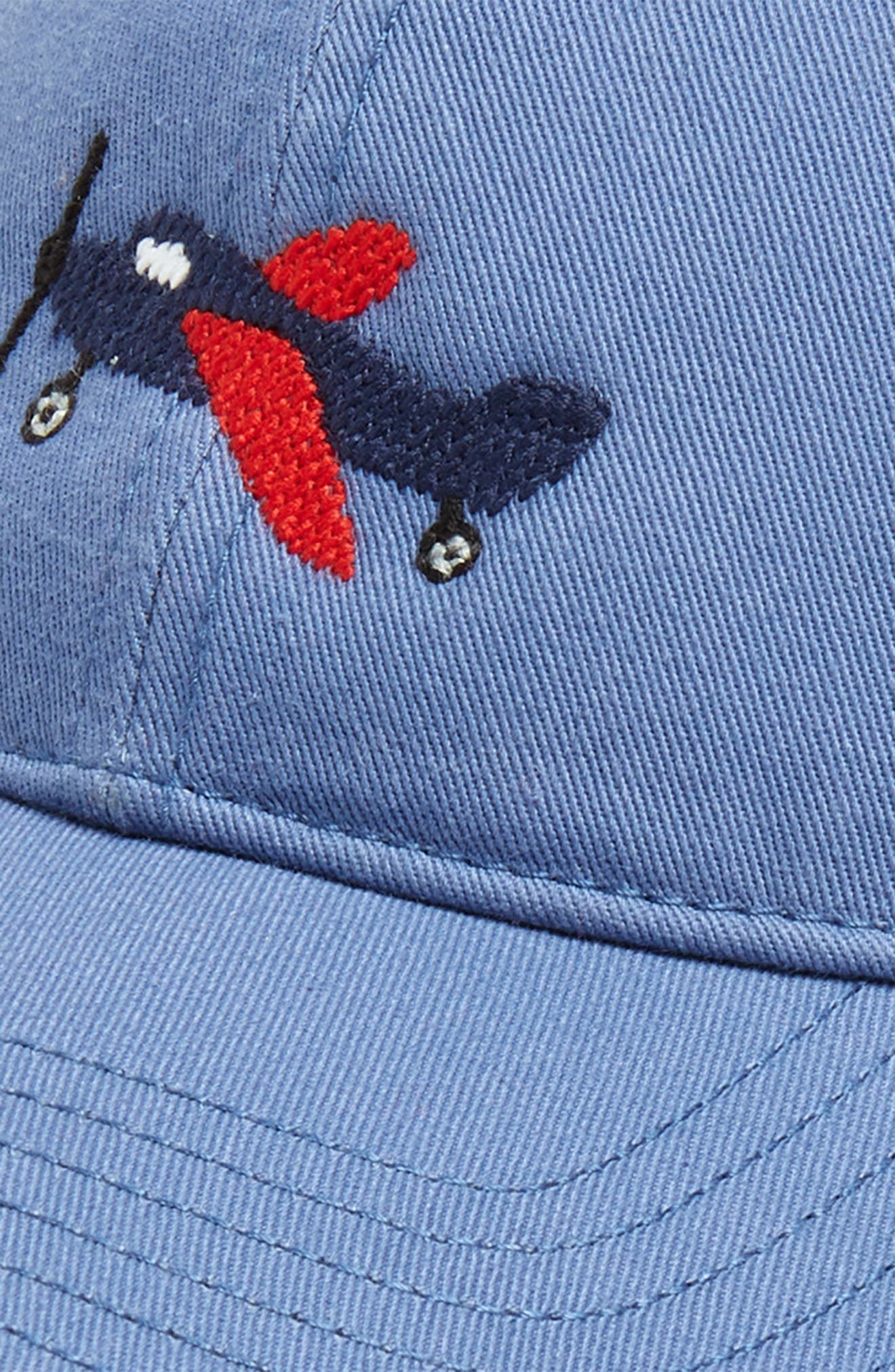 Airplane Baseball Cap,                             Alternate thumbnail 3, color,                             BLUE