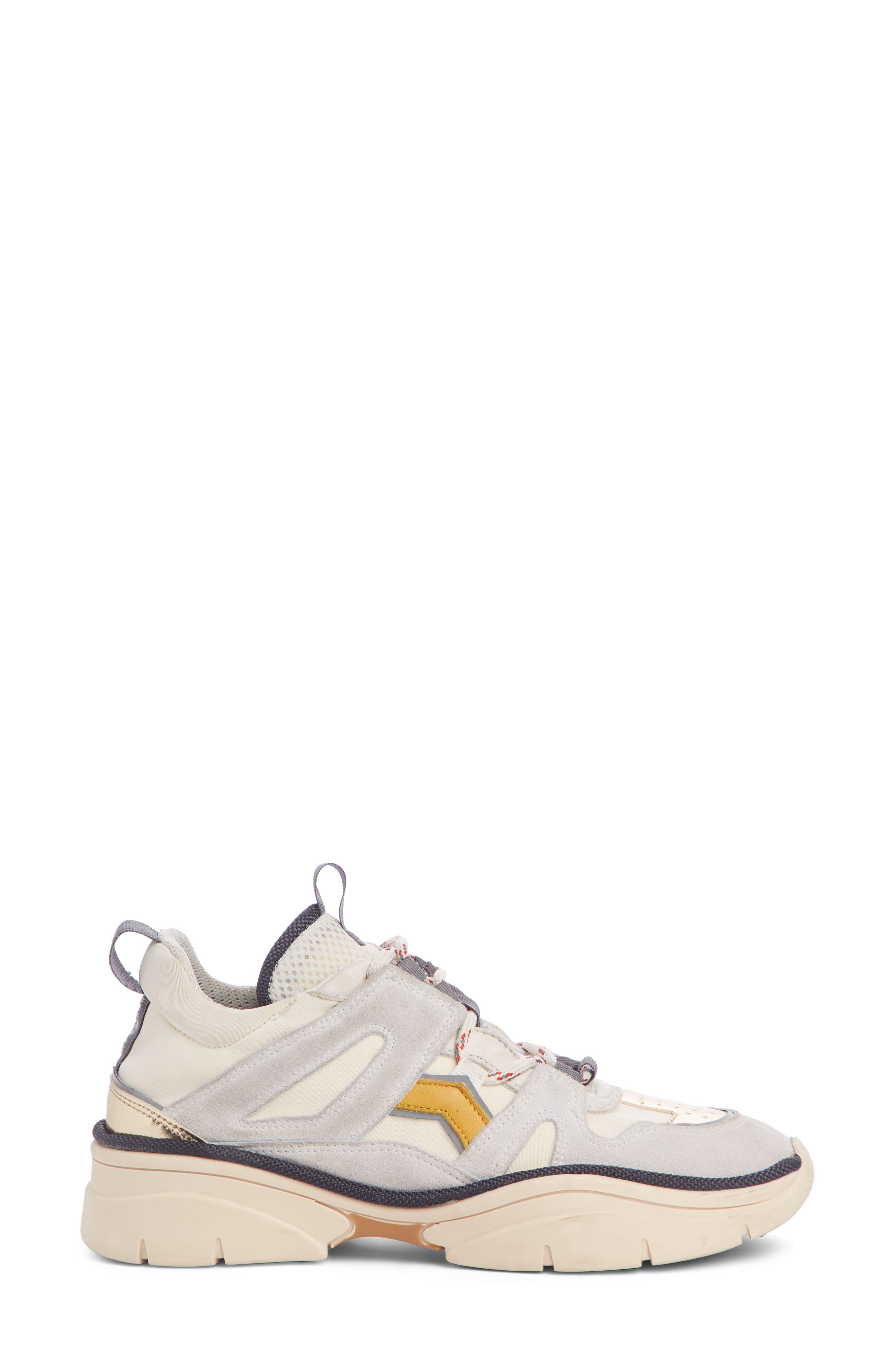 Kindsay Lace-Up Sneaker,                             Alternate thumbnail 3, color,                             WHITE