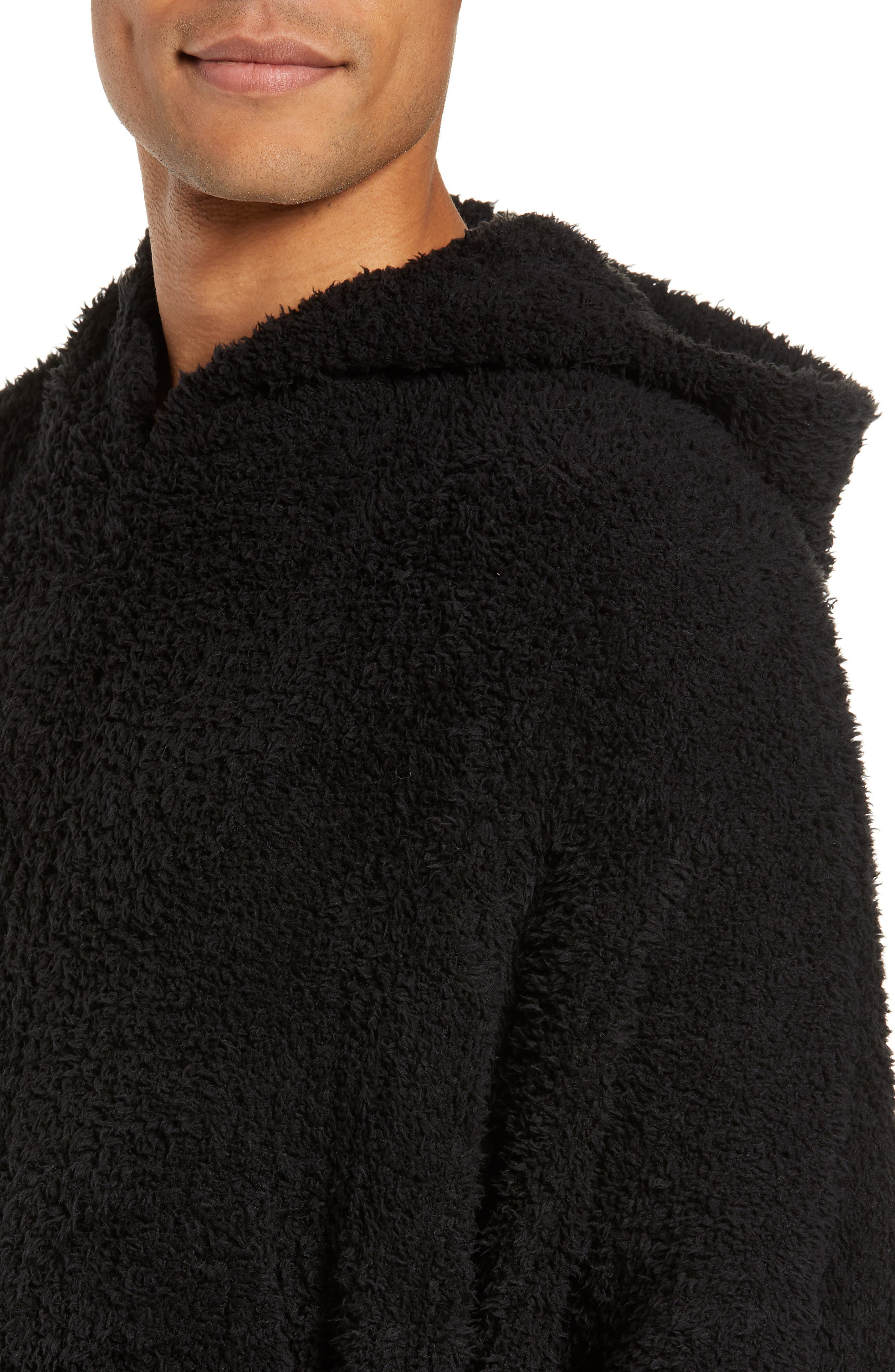BAREFOOT DREAMS<SUP>®</SUP>,                             Barefoot Dreams Cozy Chic Poncho Robe,                             Alternate thumbnail 4, color,                             001