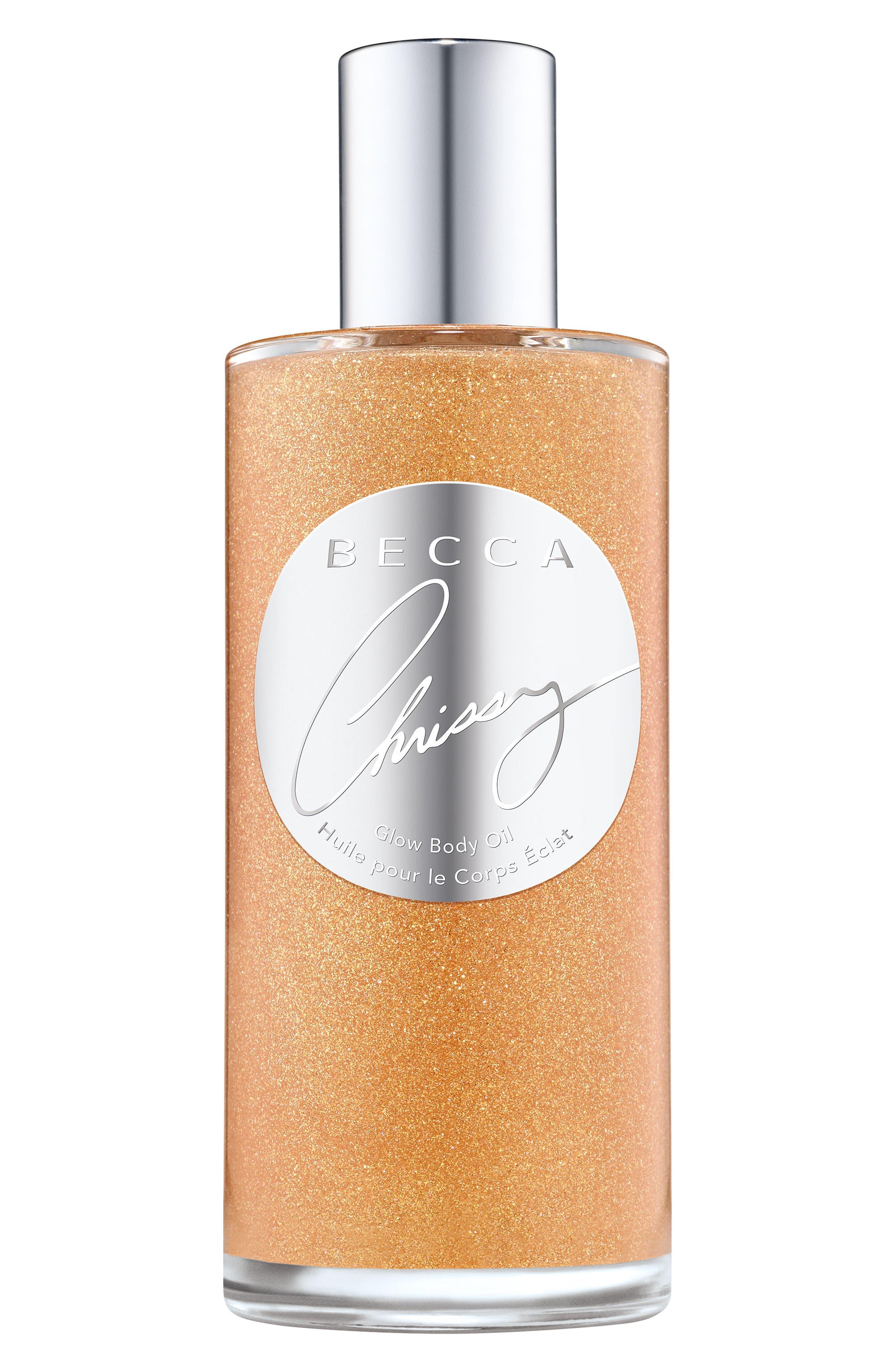 BECCA x Chrissy Teigen Glow Body Oil,                         Main,                         color, NO COLOR
