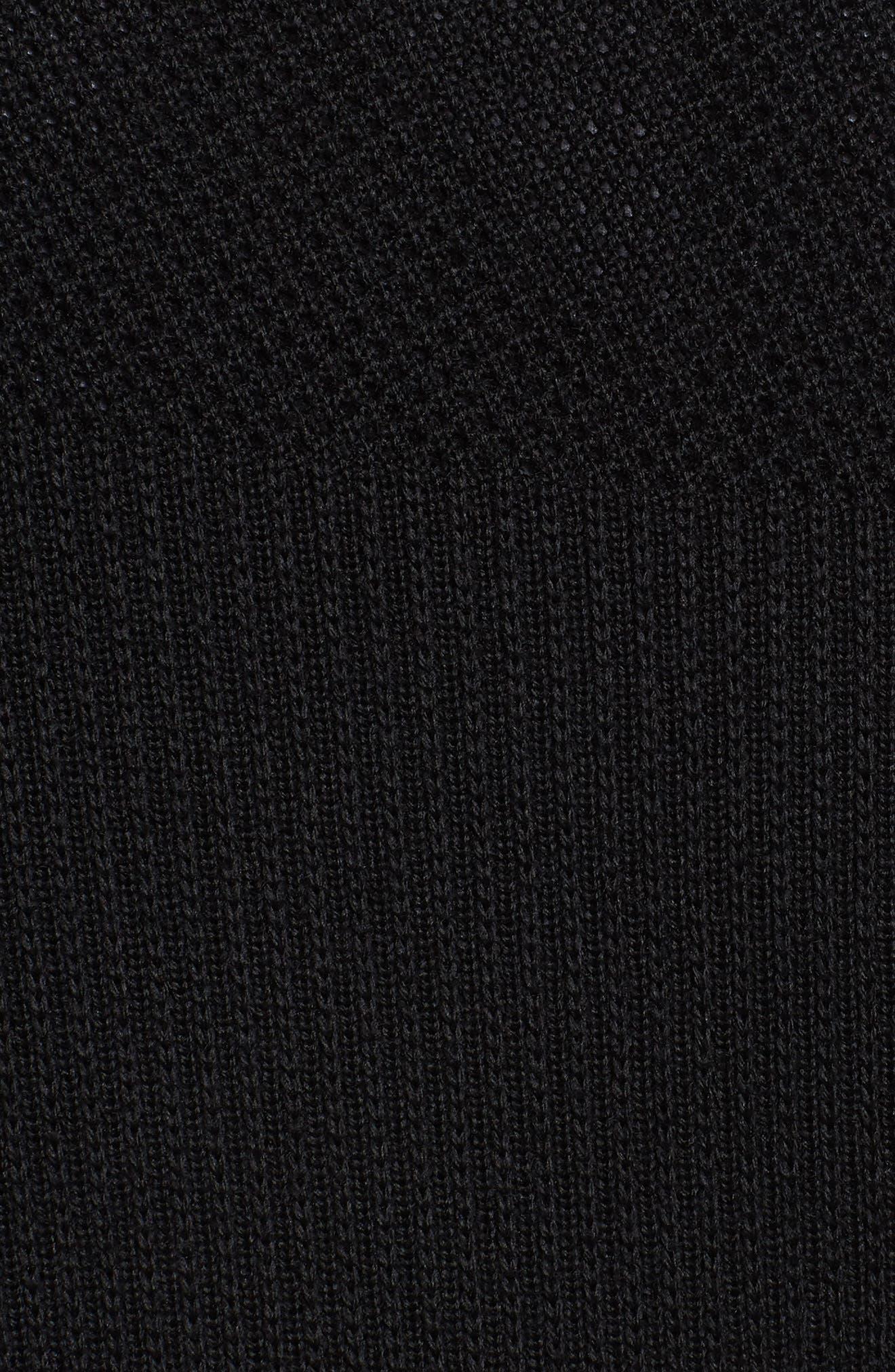 Hybridge Slim Fit Down Front Knit Jacket,                             Alternate thumbnail 5, color,                             BLACK