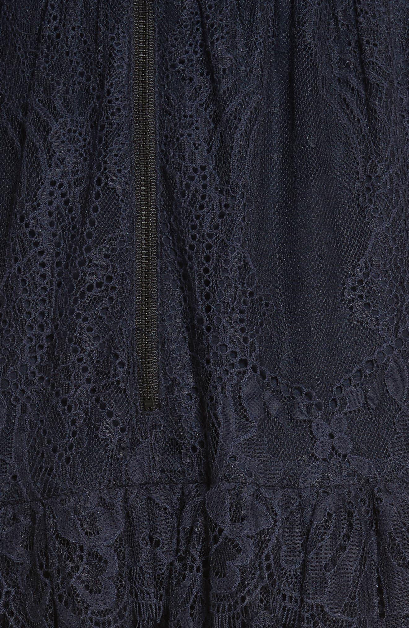 Fine Lace Off the Shoulder Maxi Dress,                             Alternate thumbnail 5, color,                             410