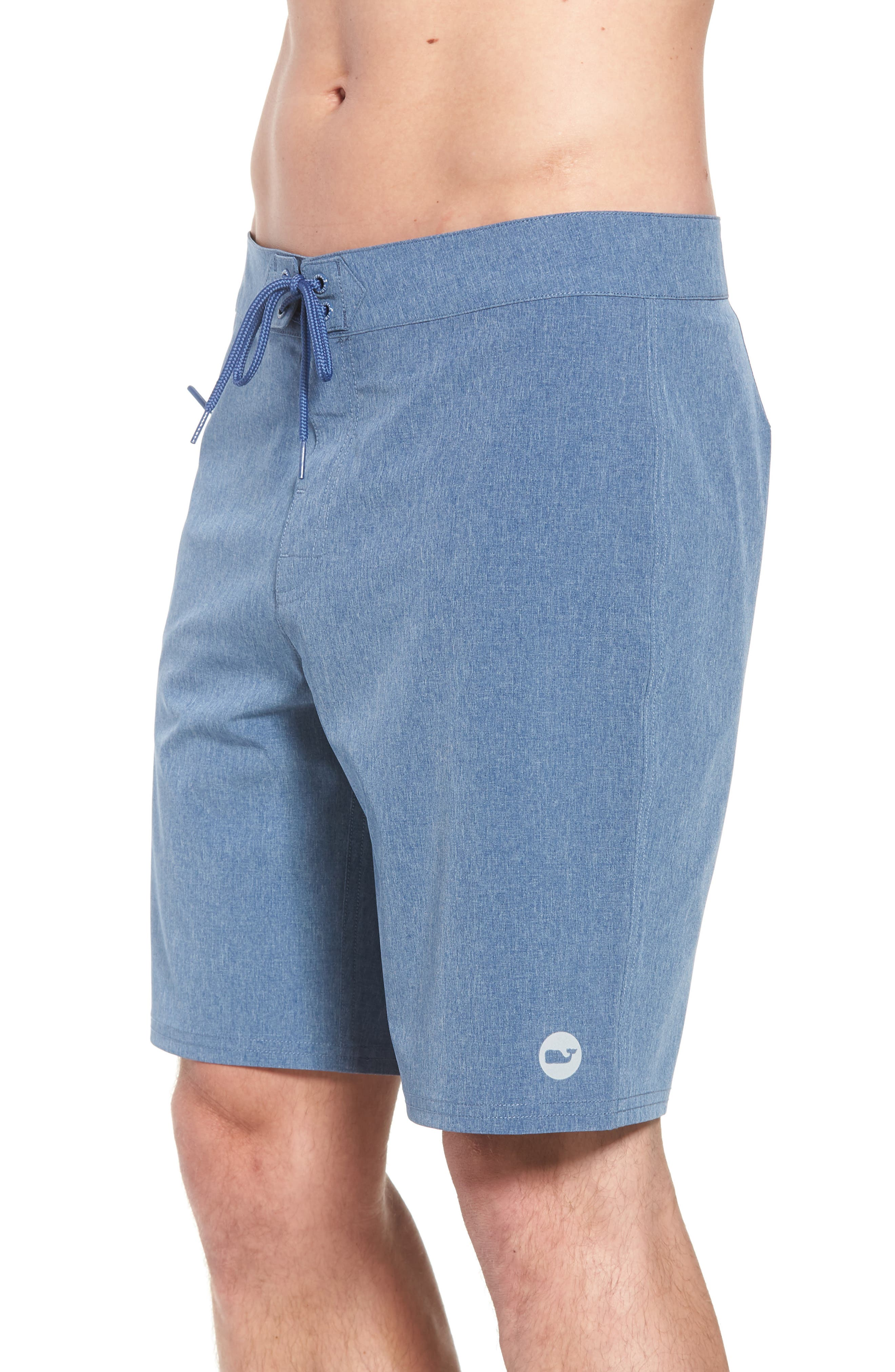 Heather Stretch Board Shorts,                             Alternate thumbnail 9, color,