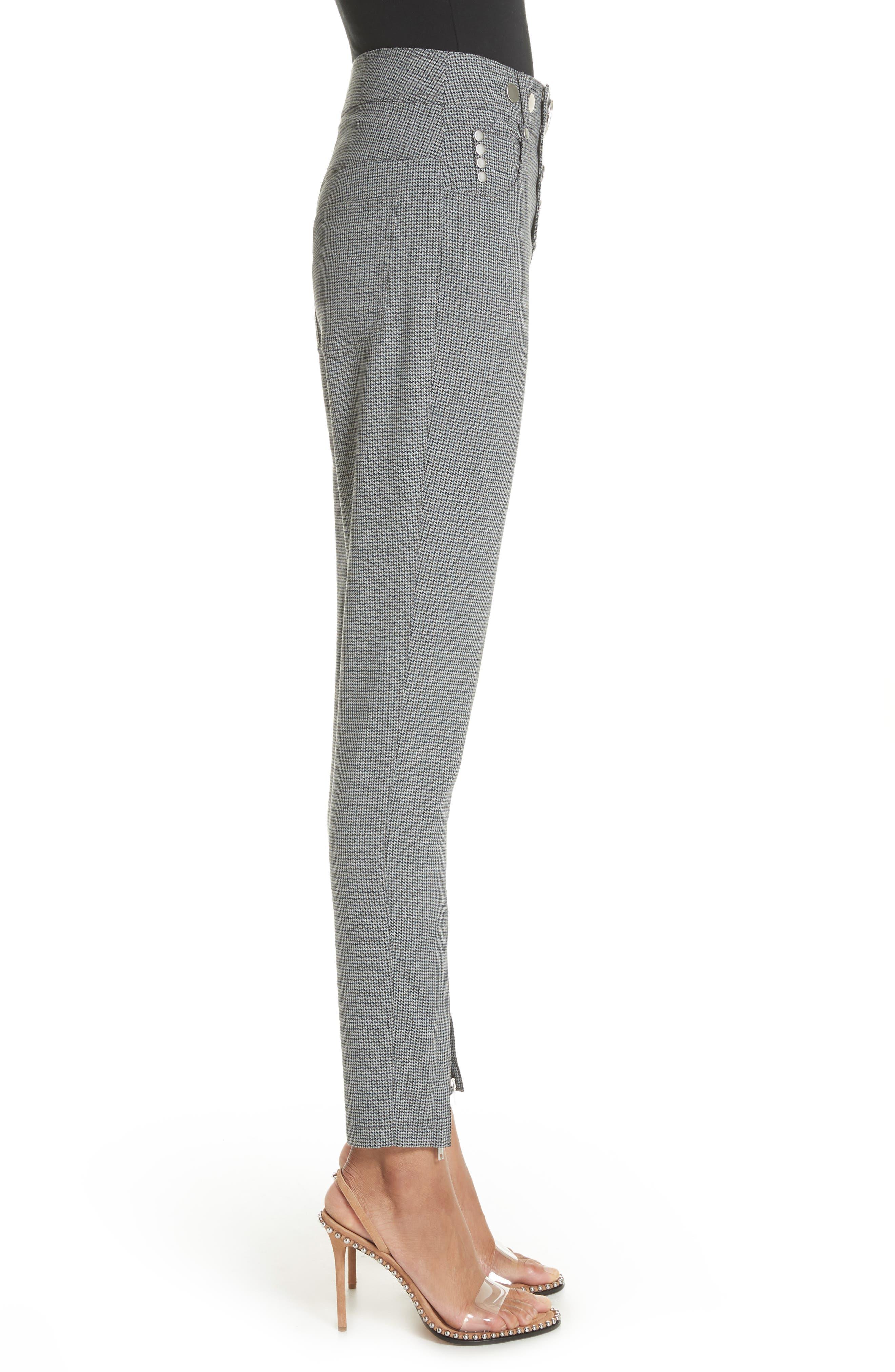 ALEXANDER WANG,                             Skinny Plaid Pants,                             Alternate thumbnail 3, color,                             020