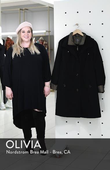 Two-Tone Long Silk Look Raincoat, sales video thumbnail