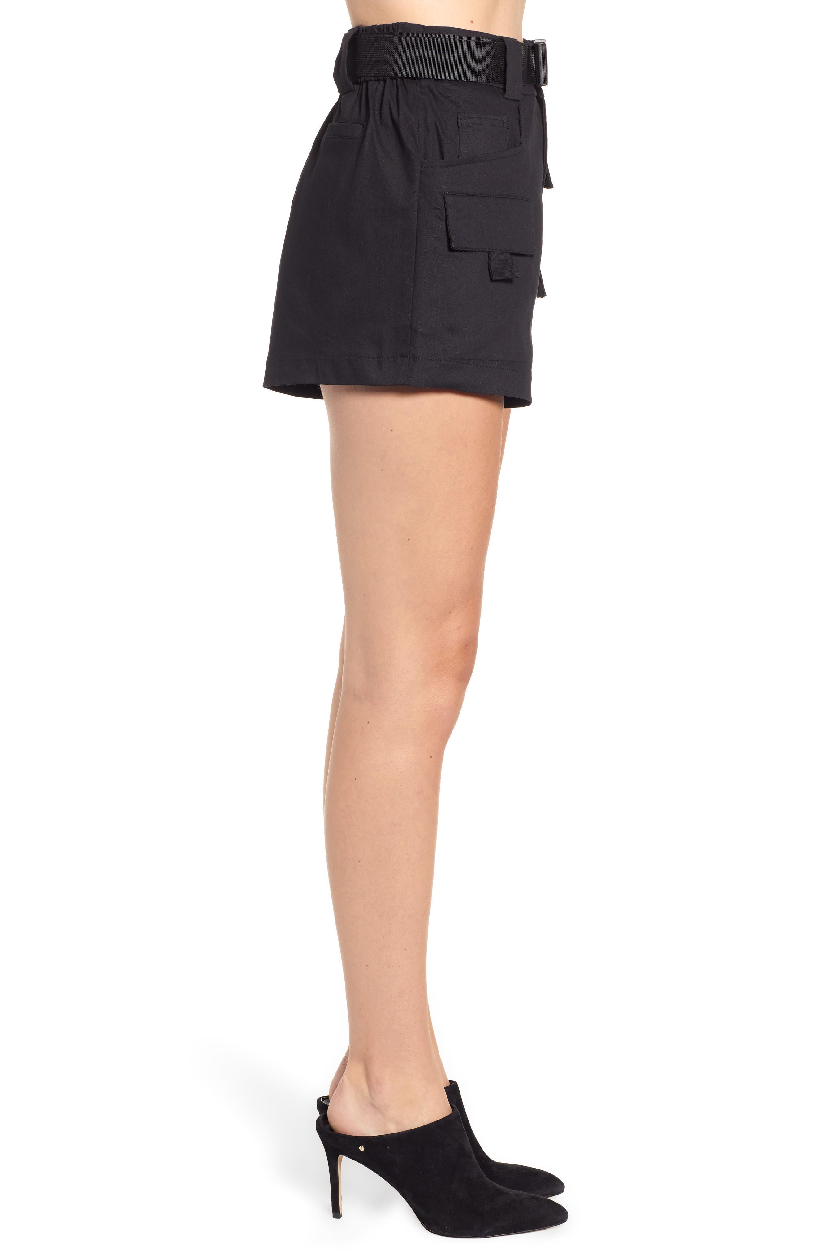 Harper Shorts,                             Alternate thumbnail 3, color,                             BLACK