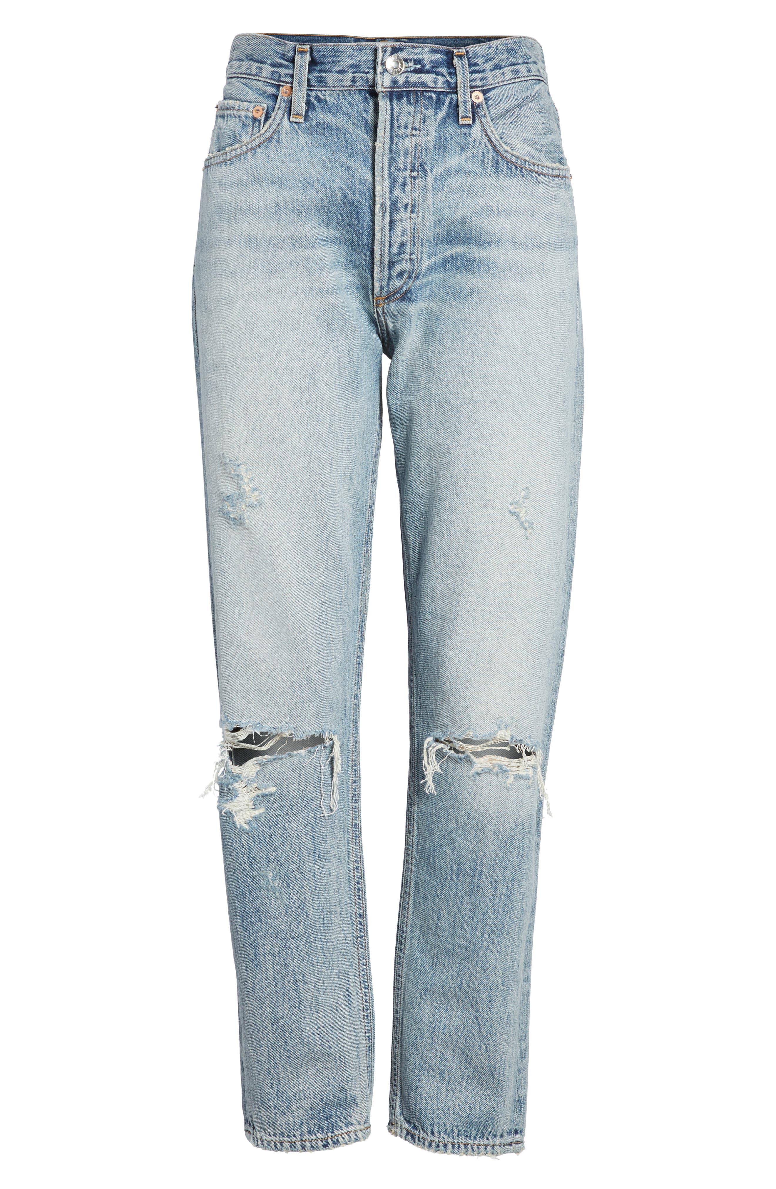 Jamie High Waist Ankle Jeans,                             Alternate thumbnail 6, color,                             RESOLUTION