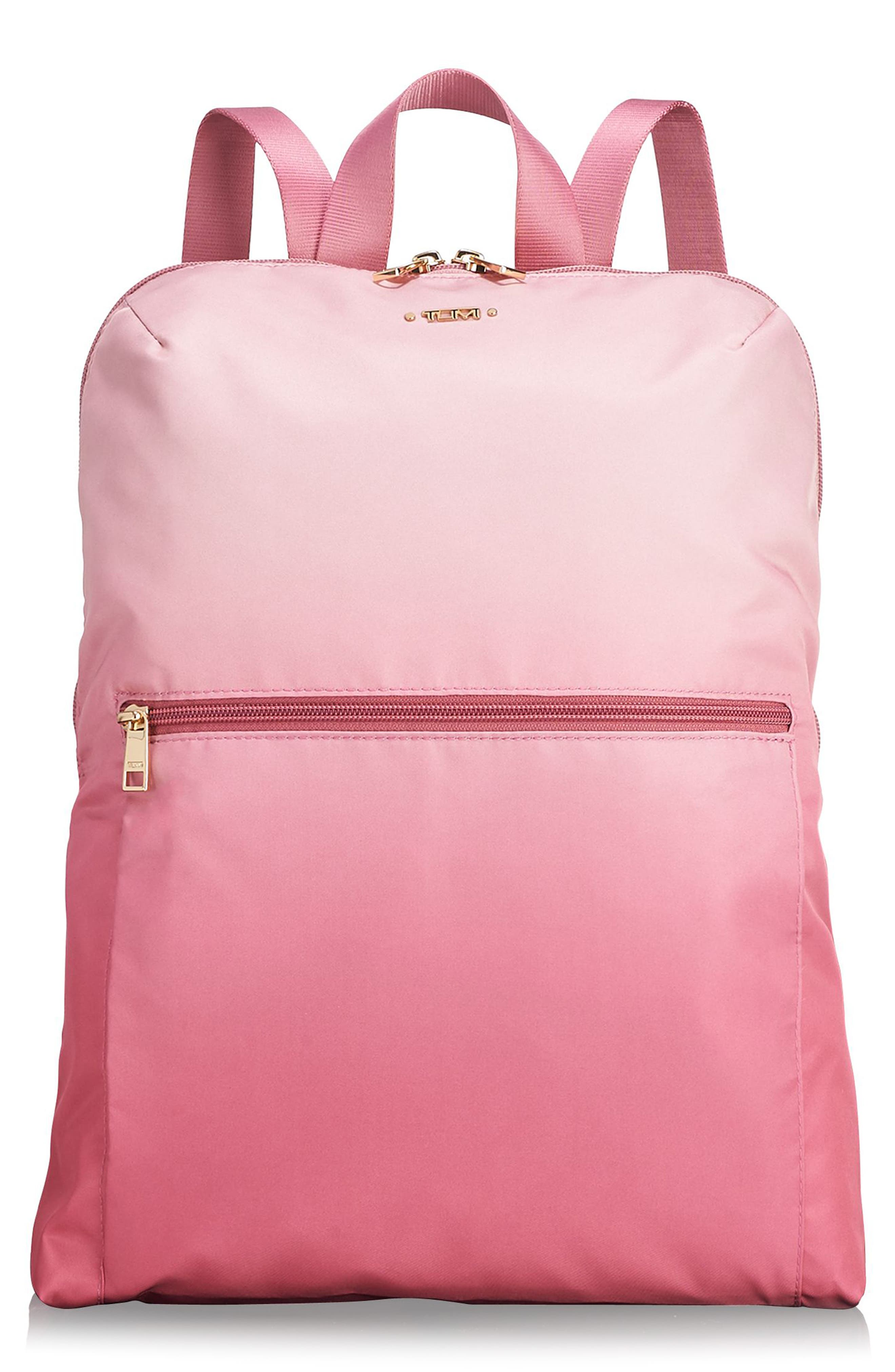 Voyageur - Just in Case Nylon Travel Backpack,                             Main thumbnail 1, color,                             PINK OMBRE