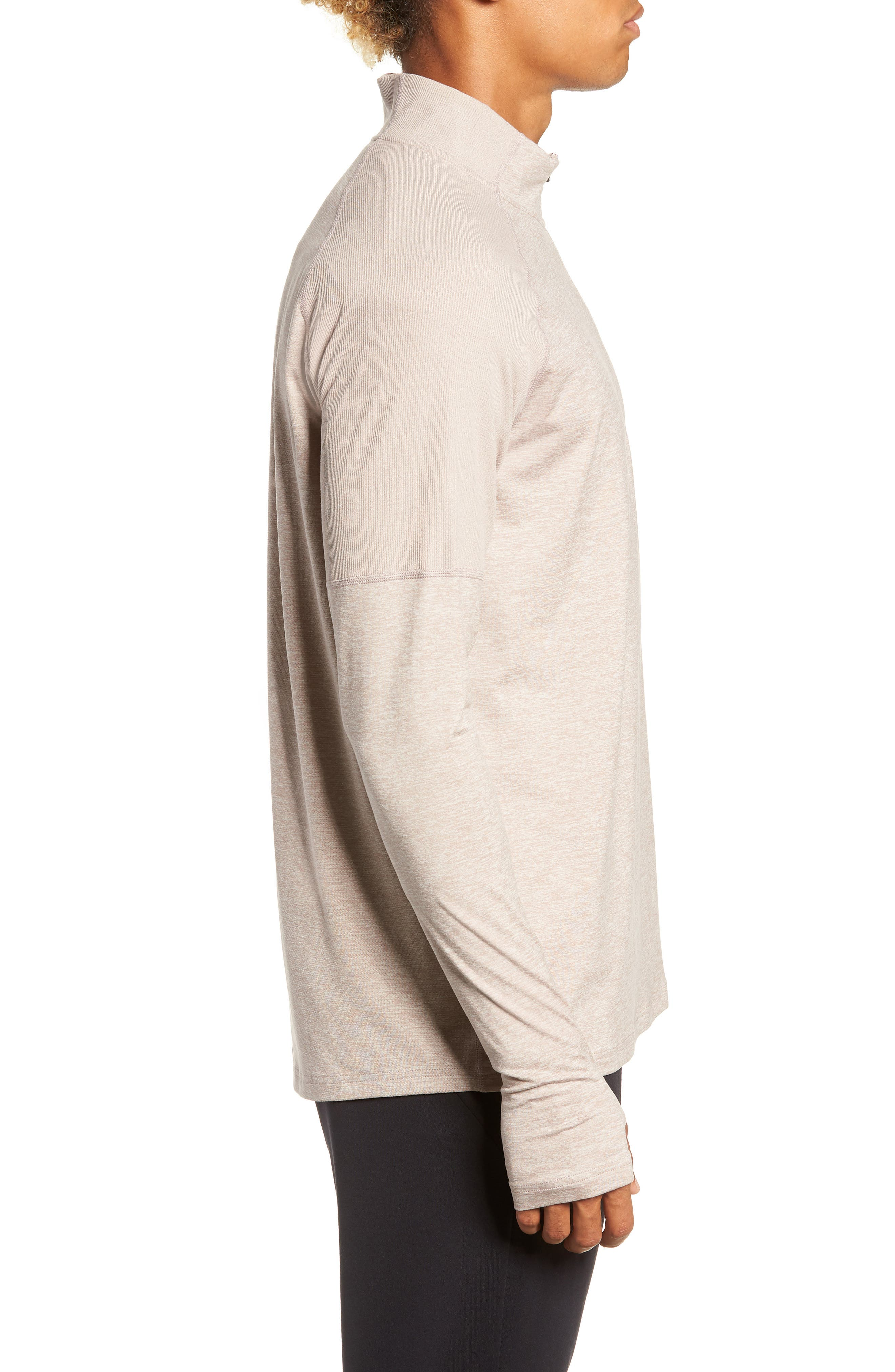 Element HZ 2.0 Performance Pullover,                             Alternate thumbnail 3, color,                             DIFFUSED TAUPE/ SAND/ HEATHER