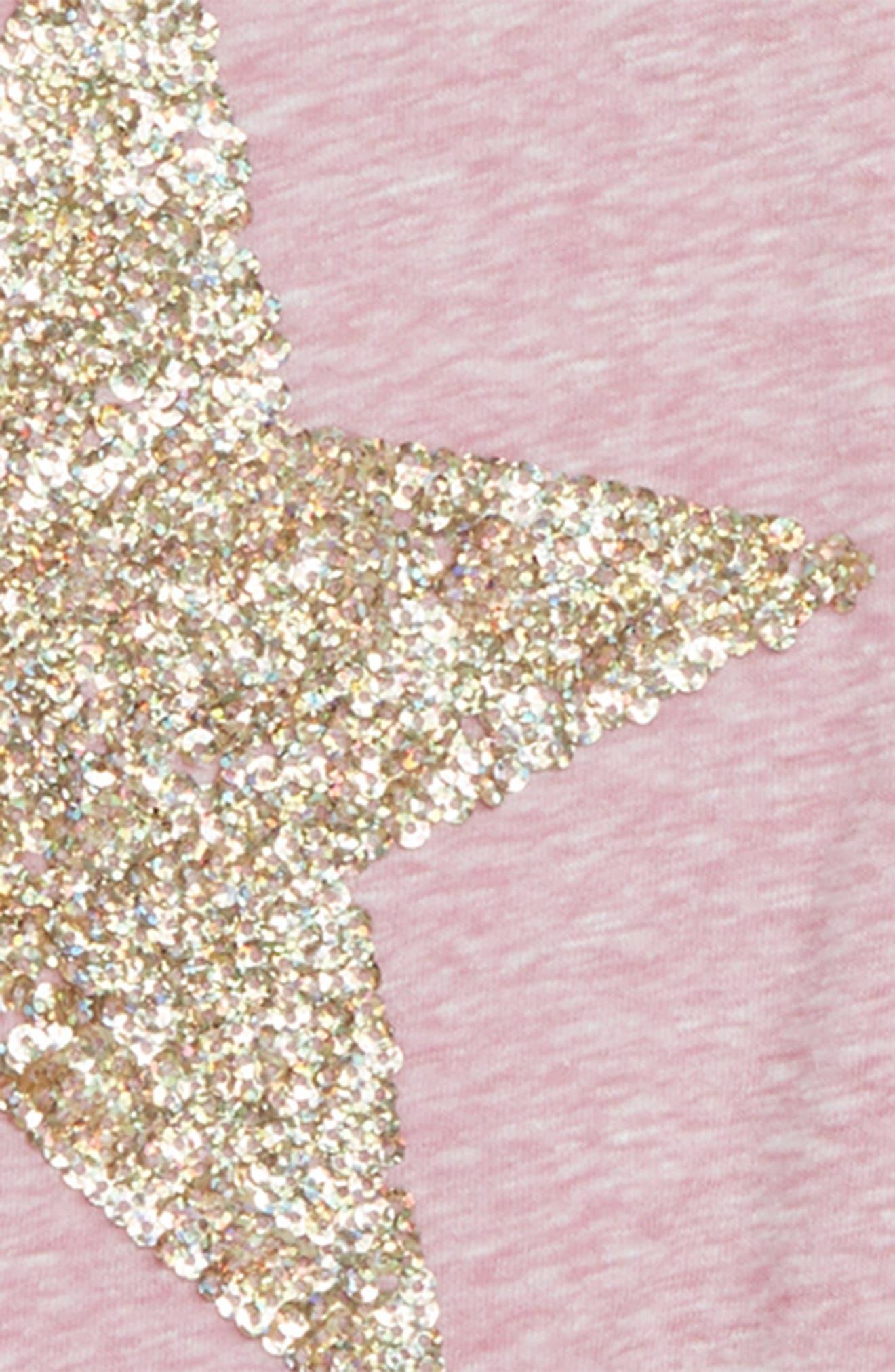 Sequin Star Ringer Tee,                             Alternate thumbnail 2, color,                             650
