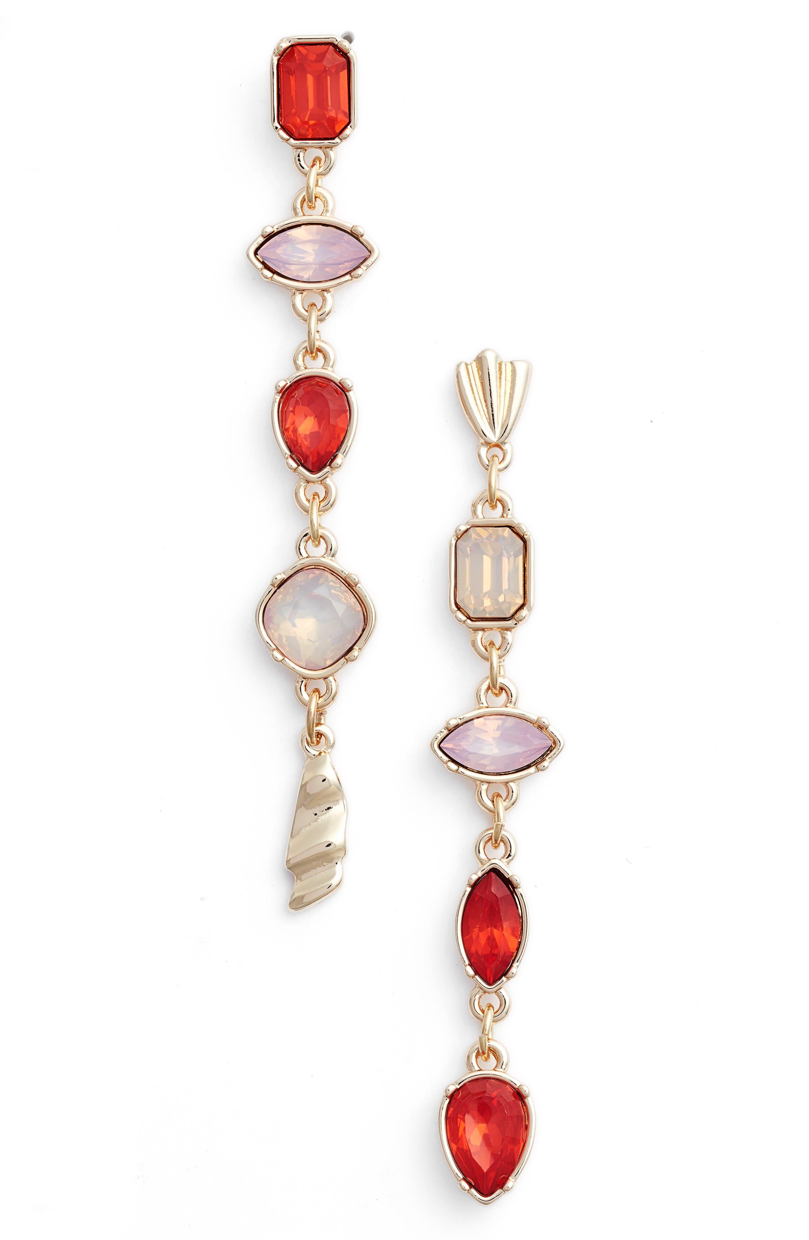 Mix Shape Stone Drop Earrings,                             Main thumbnail 3, color,