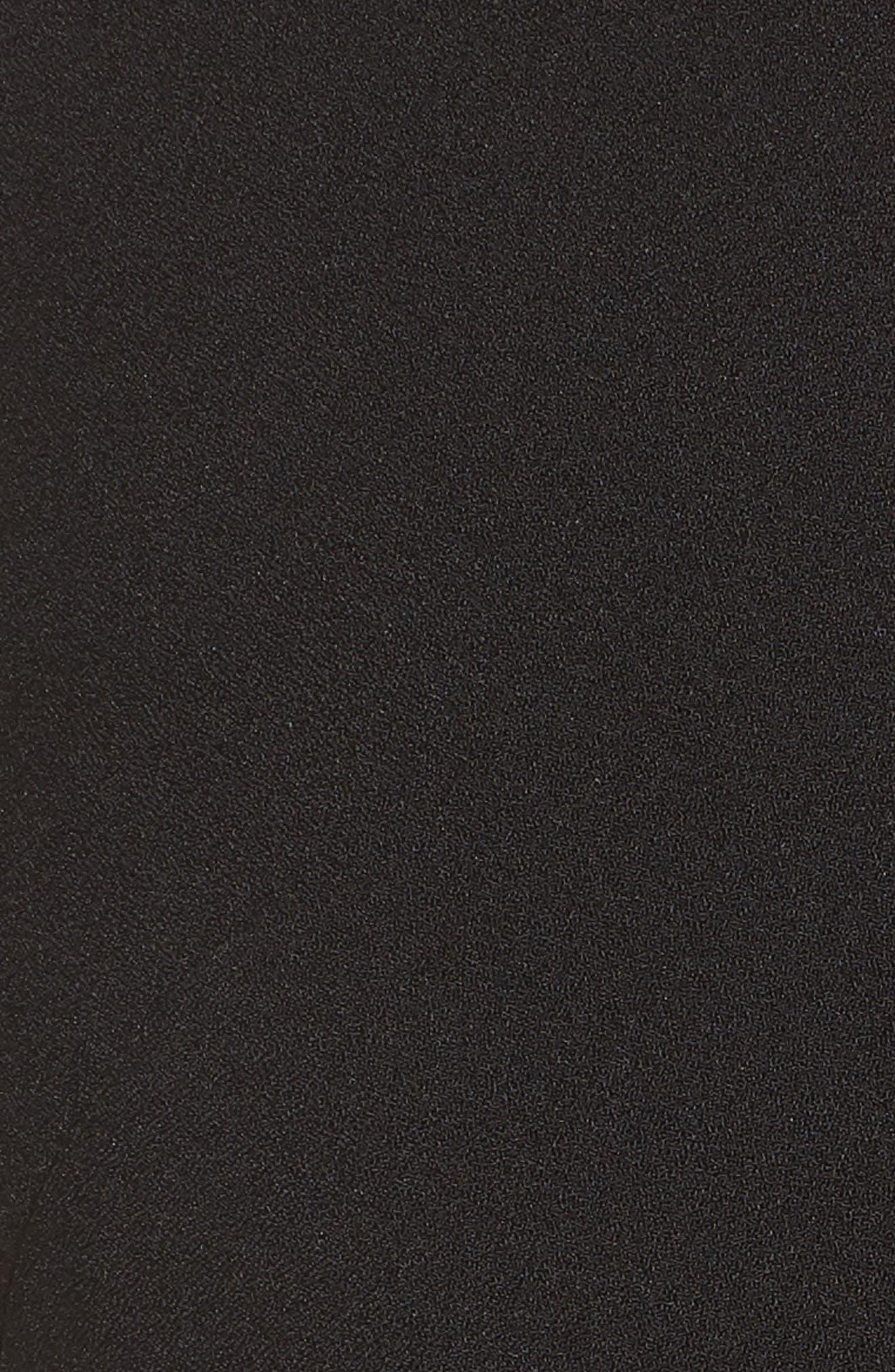 Tie Waist Crepe Jumpsuit,                             Alternate thumbnail 6, color,                             001