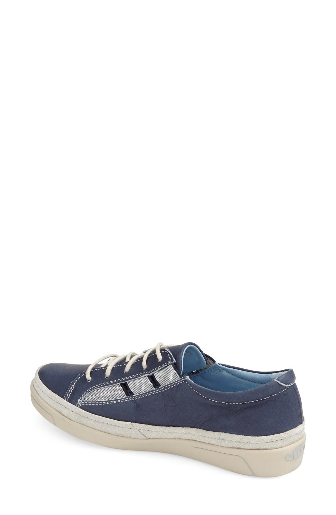 'Amazonas' Leather Sneaker,                             Alternate thumbnail 2, color,                             BLUE LEATHER