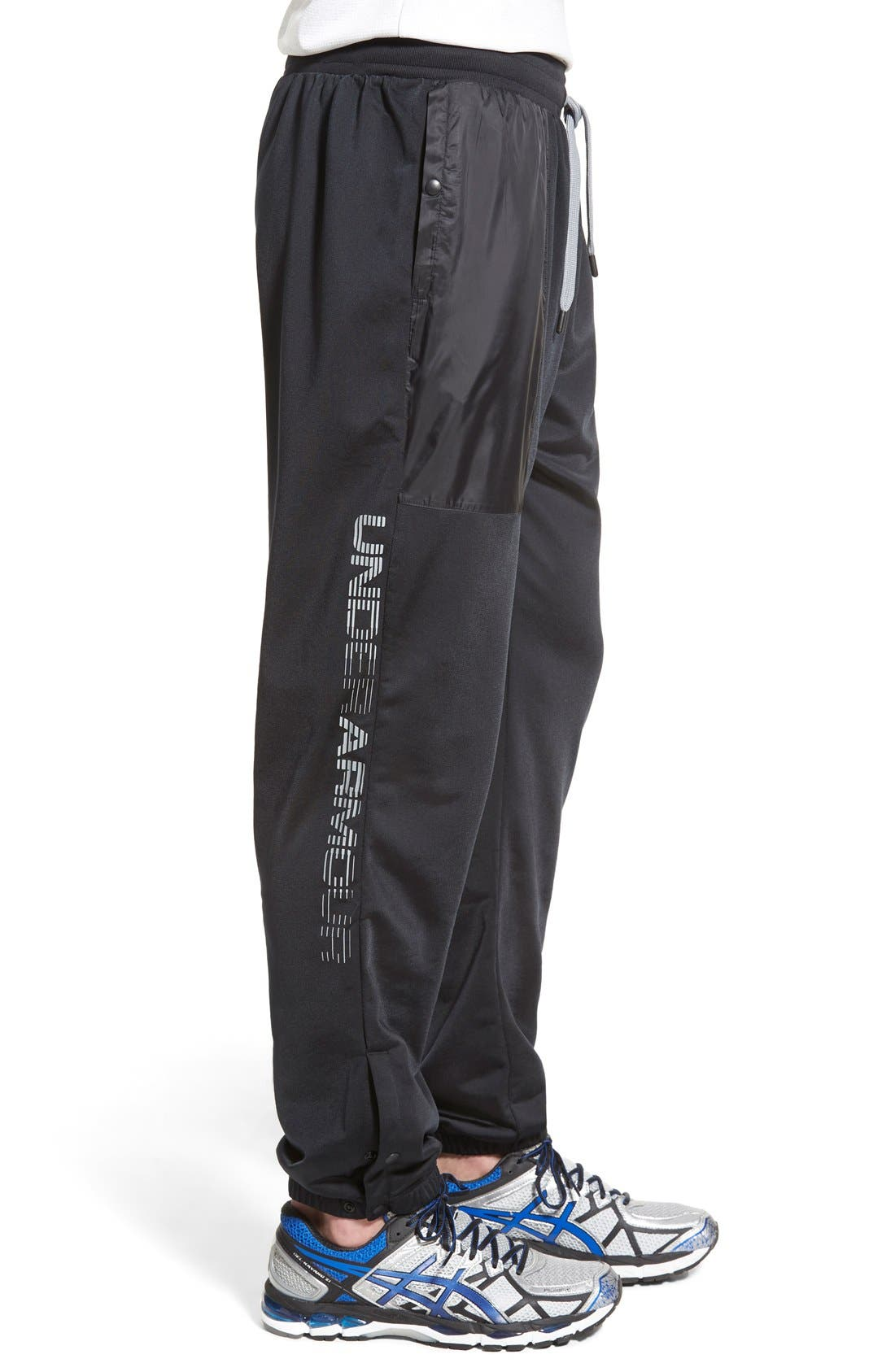 UNDER ARMOUR,                             'Diddy Bop' Moisture Wicking Training Pants,                             Alternate thumbnail 3, color,                             001