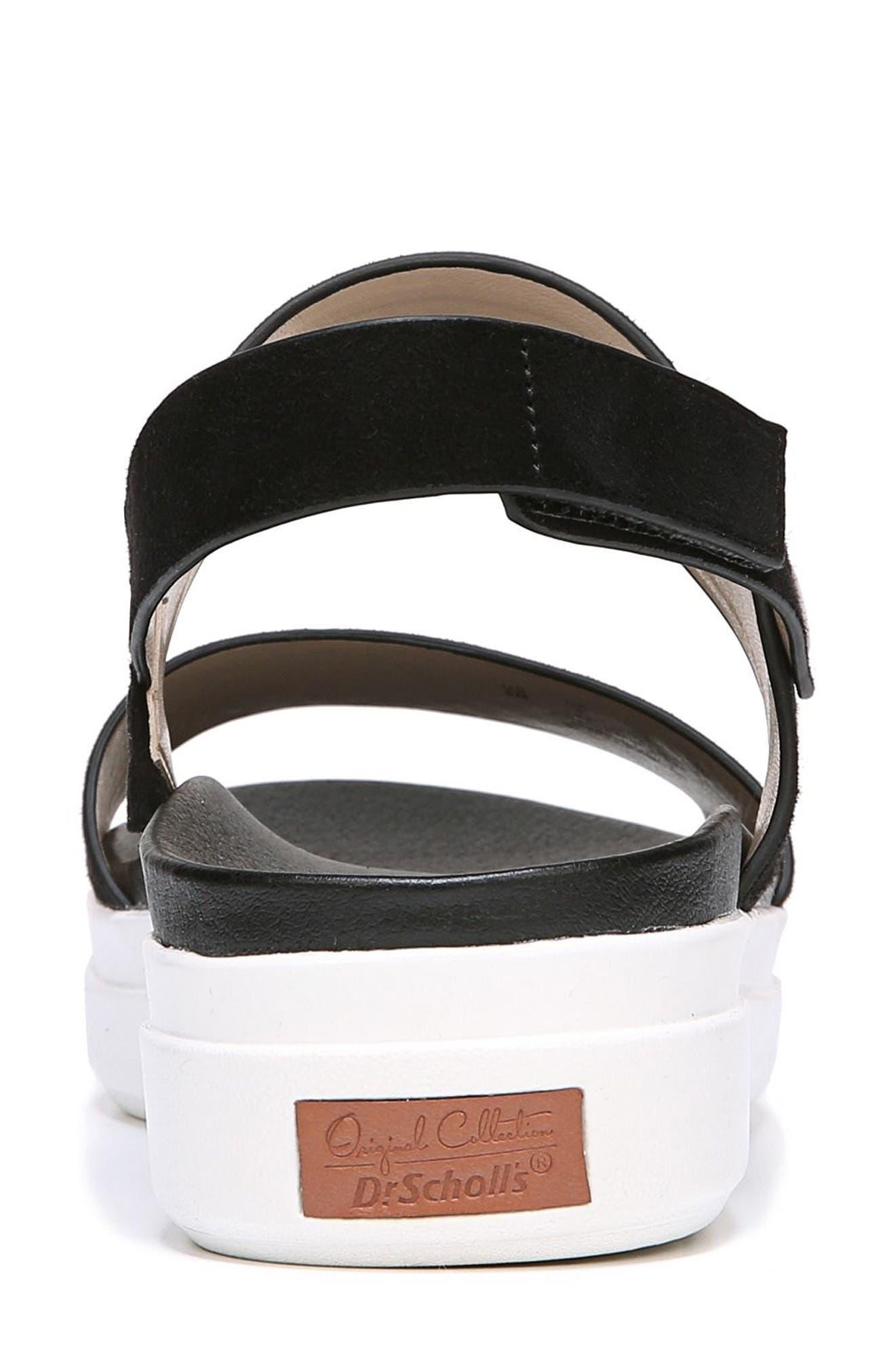Scout Platform Sandal,                             Alternate thumbnail 7, color,                             BLACK SUEDE