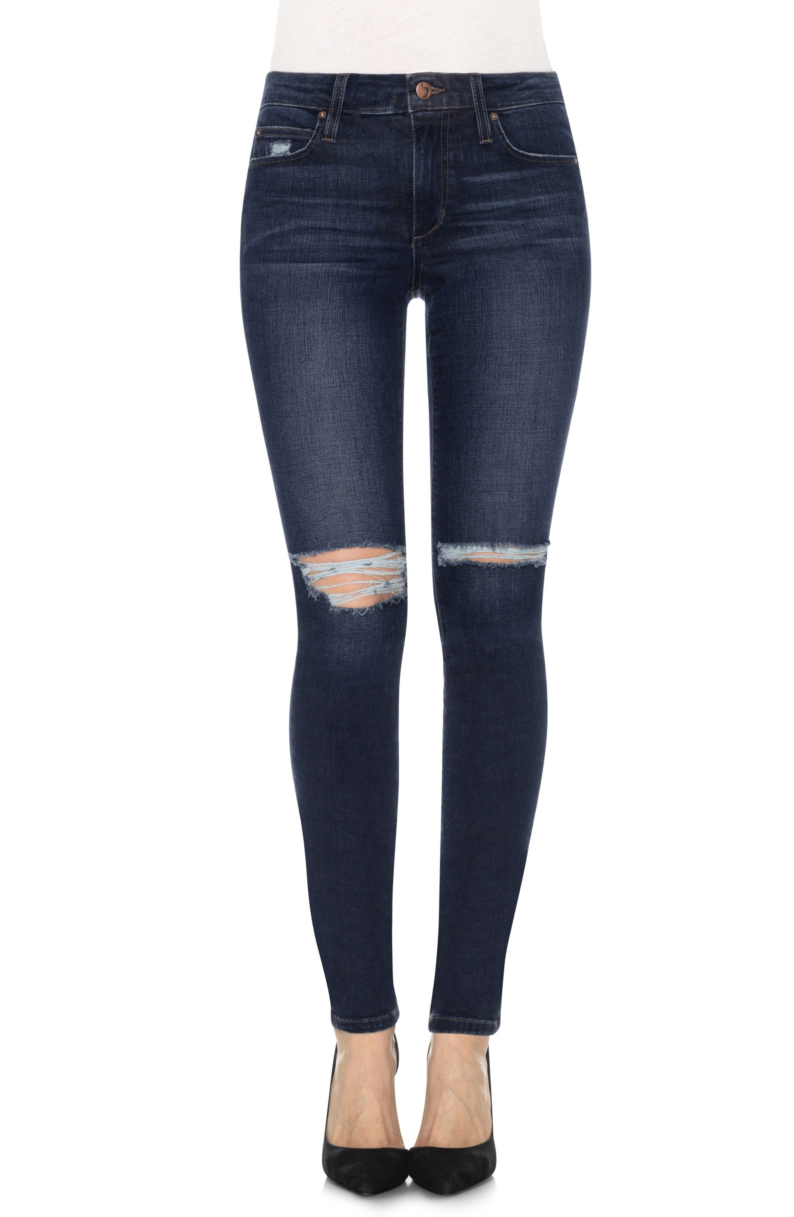Joes Flawless - Icon Distressed Skinny Jeans,                             Main thumbnail 1, color,                             410