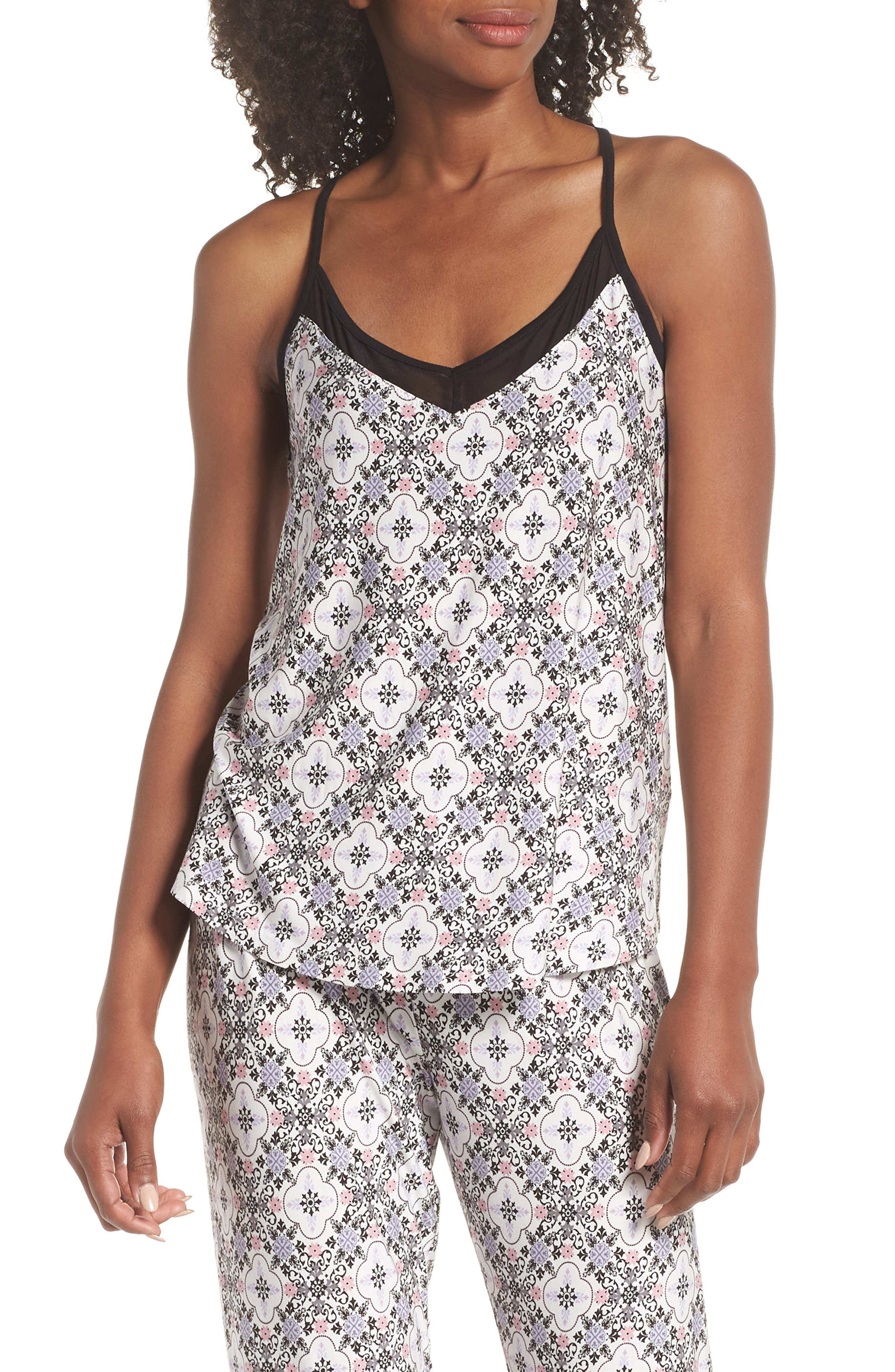 Print Stretch Modal Camisole,                             Main thumbnail 1, color,                             901