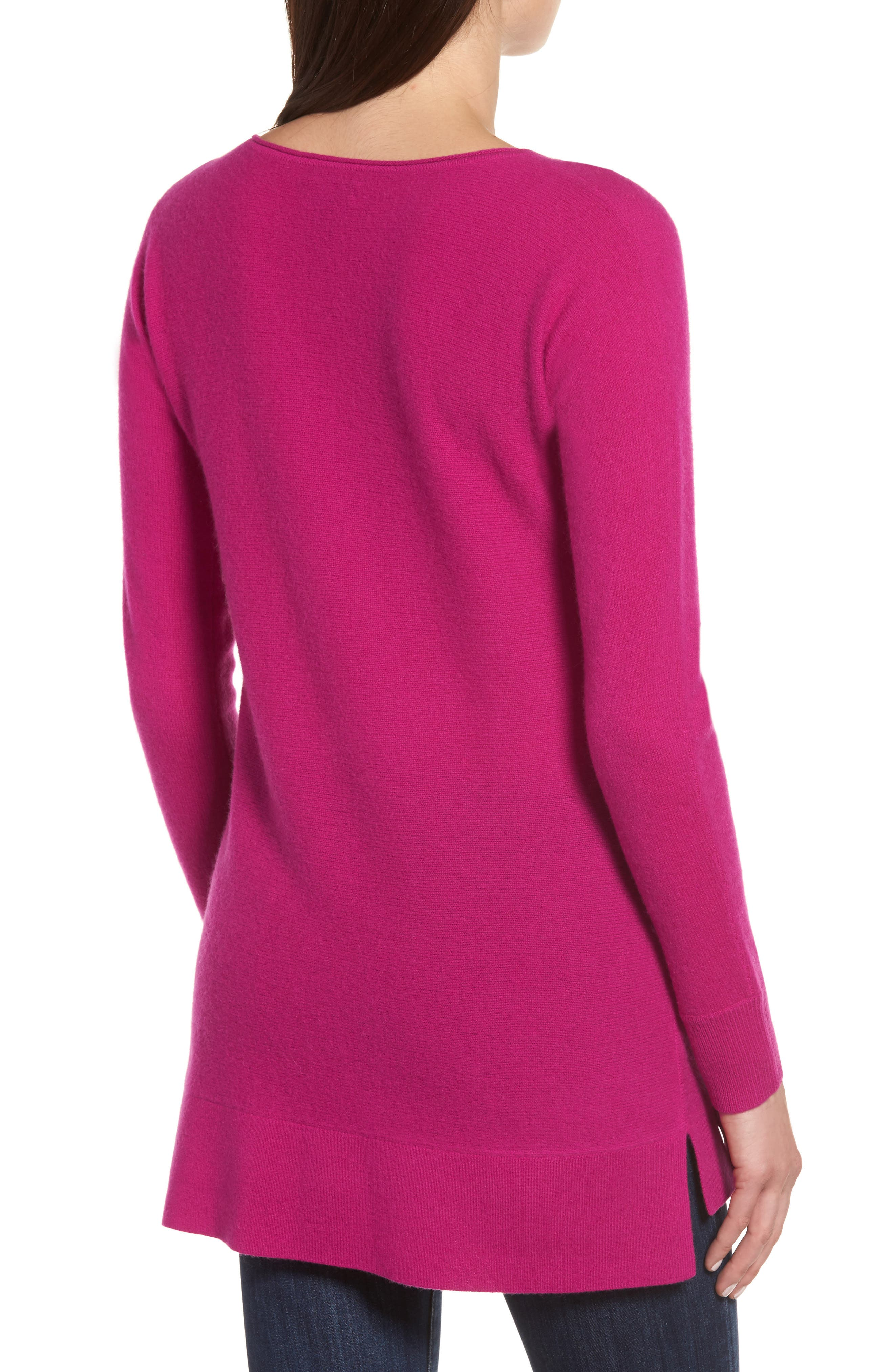 High/Low Wool & Cashmere Tunic Sweater,                             Alternate thumbnail 33, color,