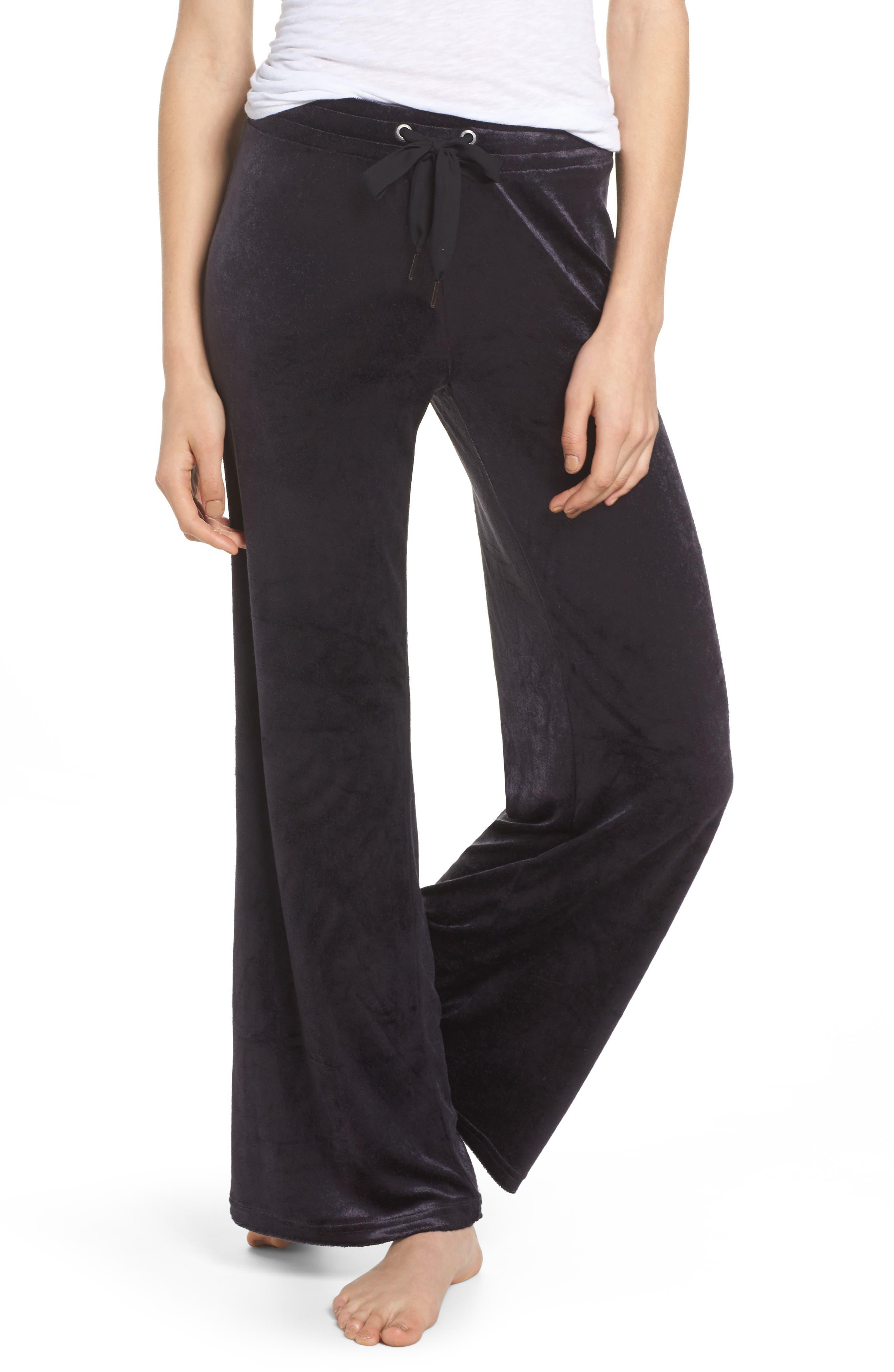 Paris Wide Leg Velour Pants,                         Main,                         color,