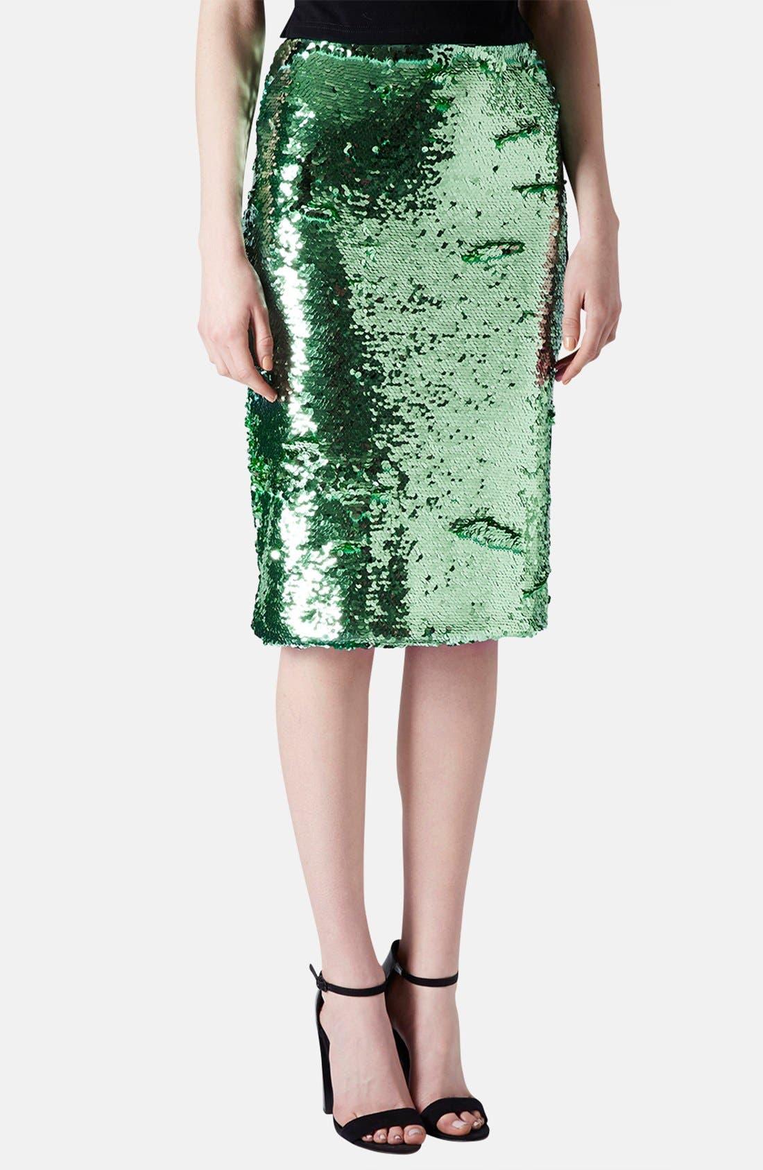 Sequin Pencil Skirt,                             Main thumbnail 1, color,                             330