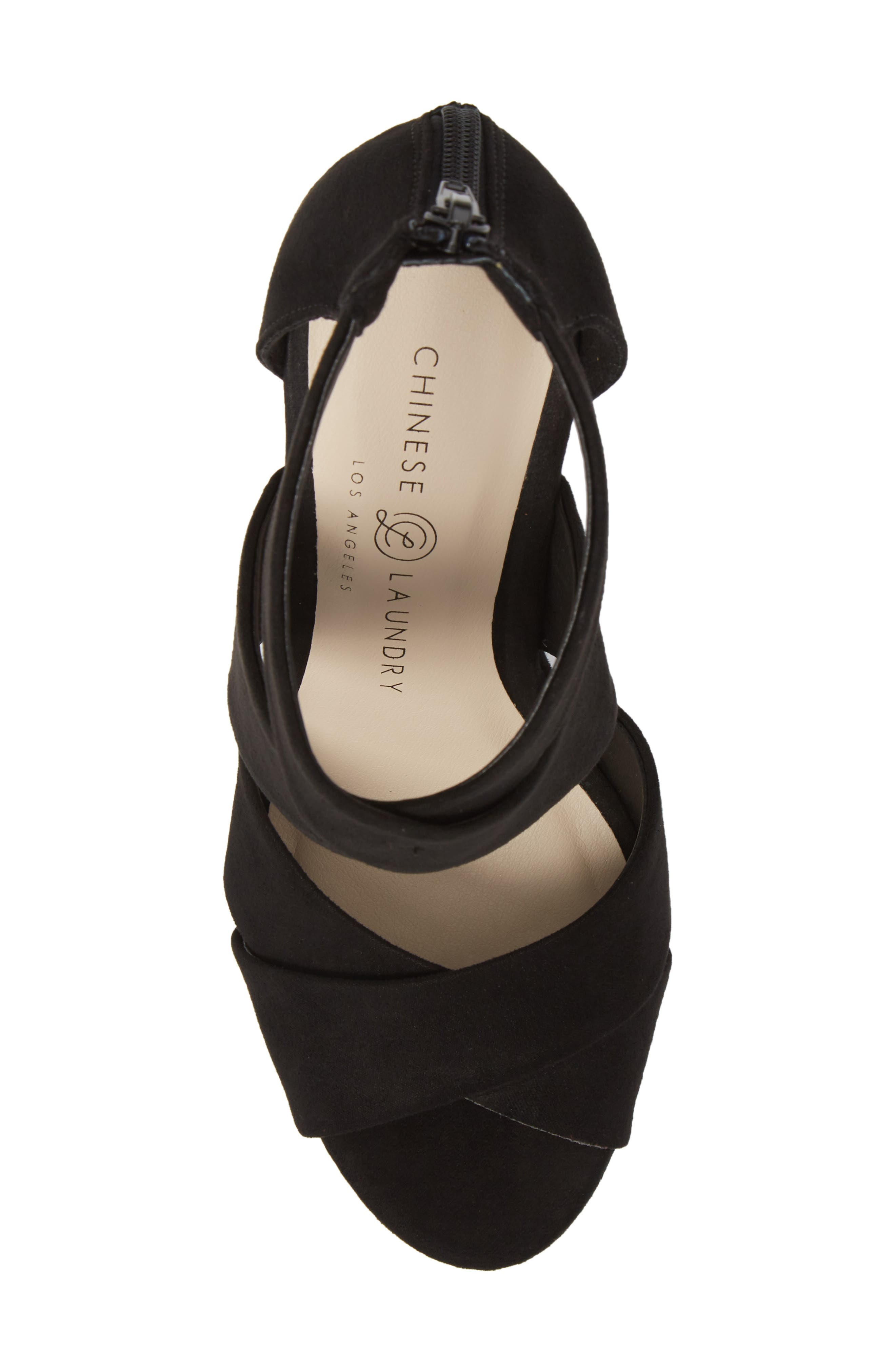 Milani Platform Wedge Sandal,                             Alternate thumbnail 5, color,                             BLACK