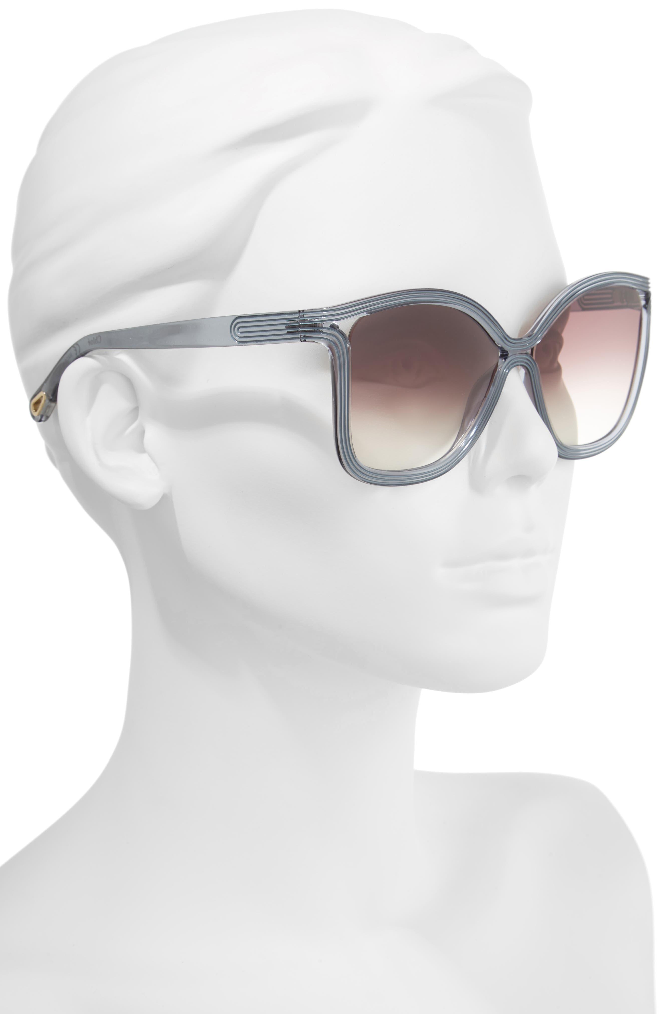 Grooves 58mm Rectangular Sunglasses,                             Alternate thumbnail 7, color,