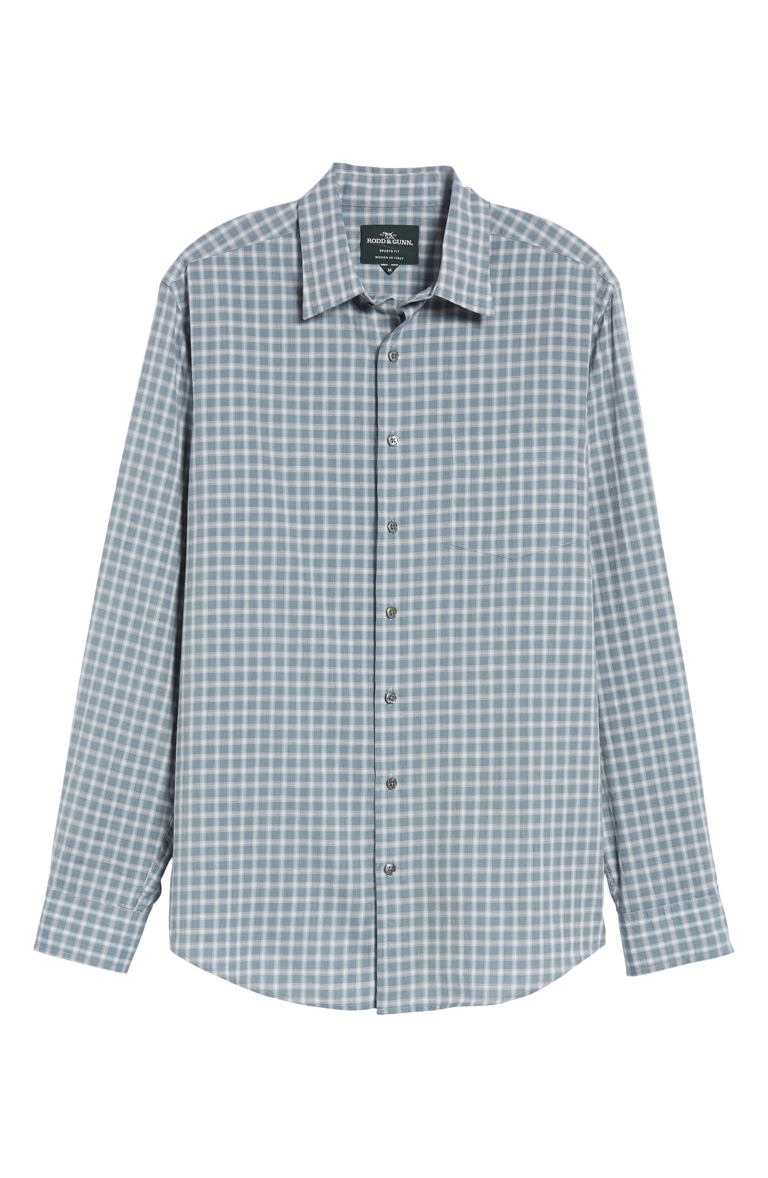 Larkins Way Regular Fit Check Sport Shirt,                             Alternate thumbnail 6, color,