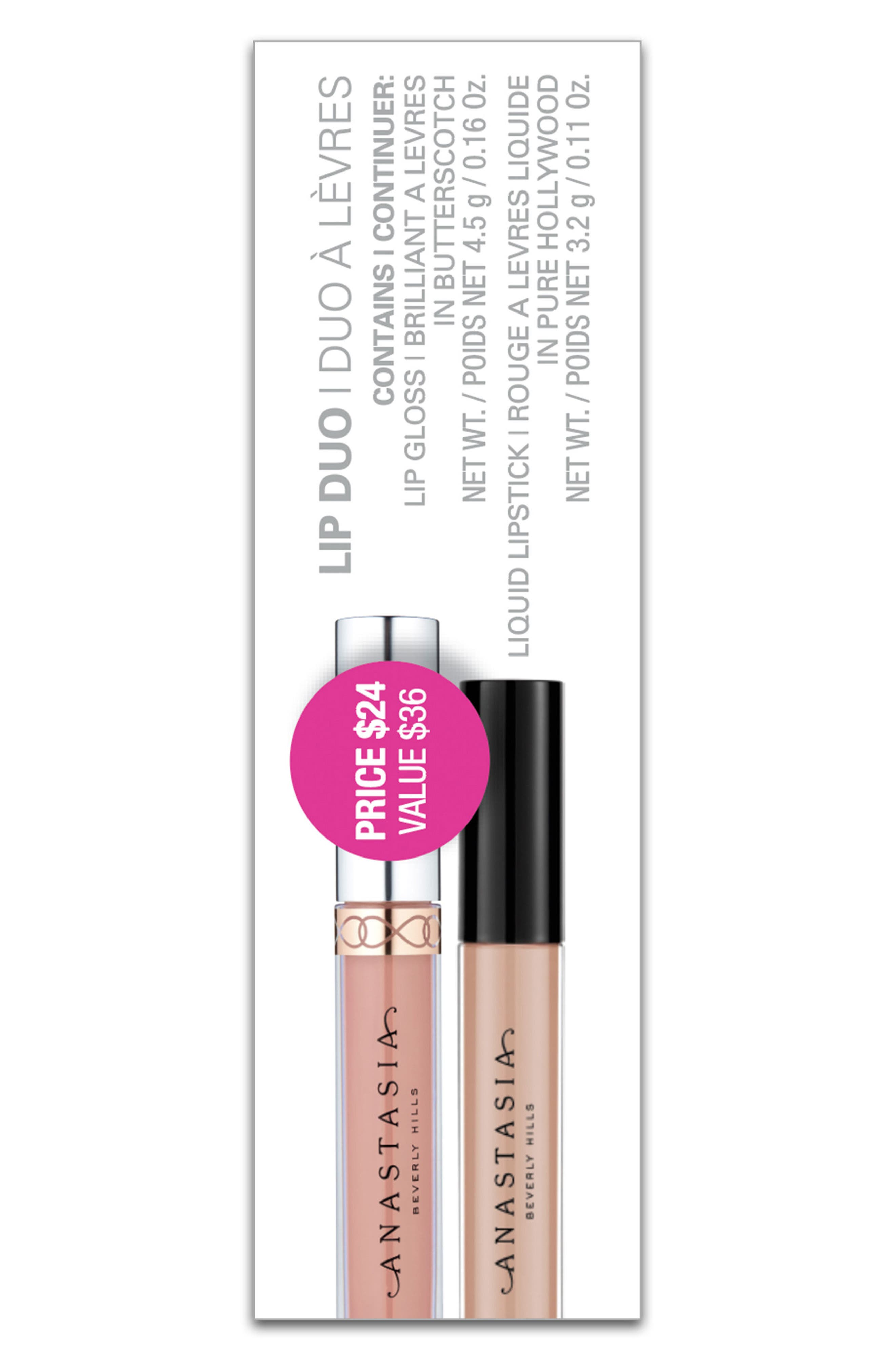 Lip Duo,                             Alternate thumbnail 2, color,                             PURE HOLLYWOOD BUTTERSCOTCH