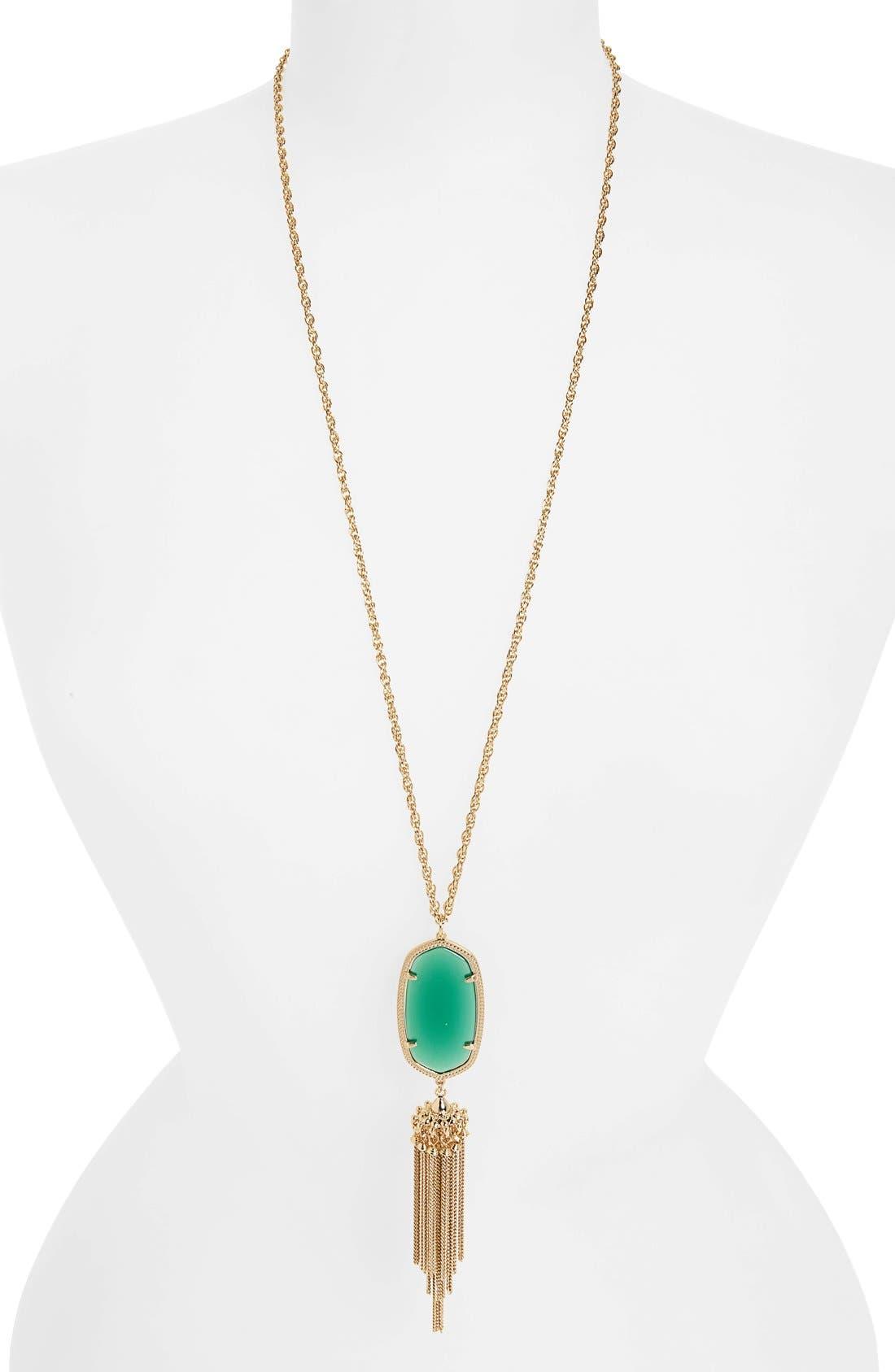 Rayne Stone Tassel Pendant Necklace,                             Main thumbnail 37, color,