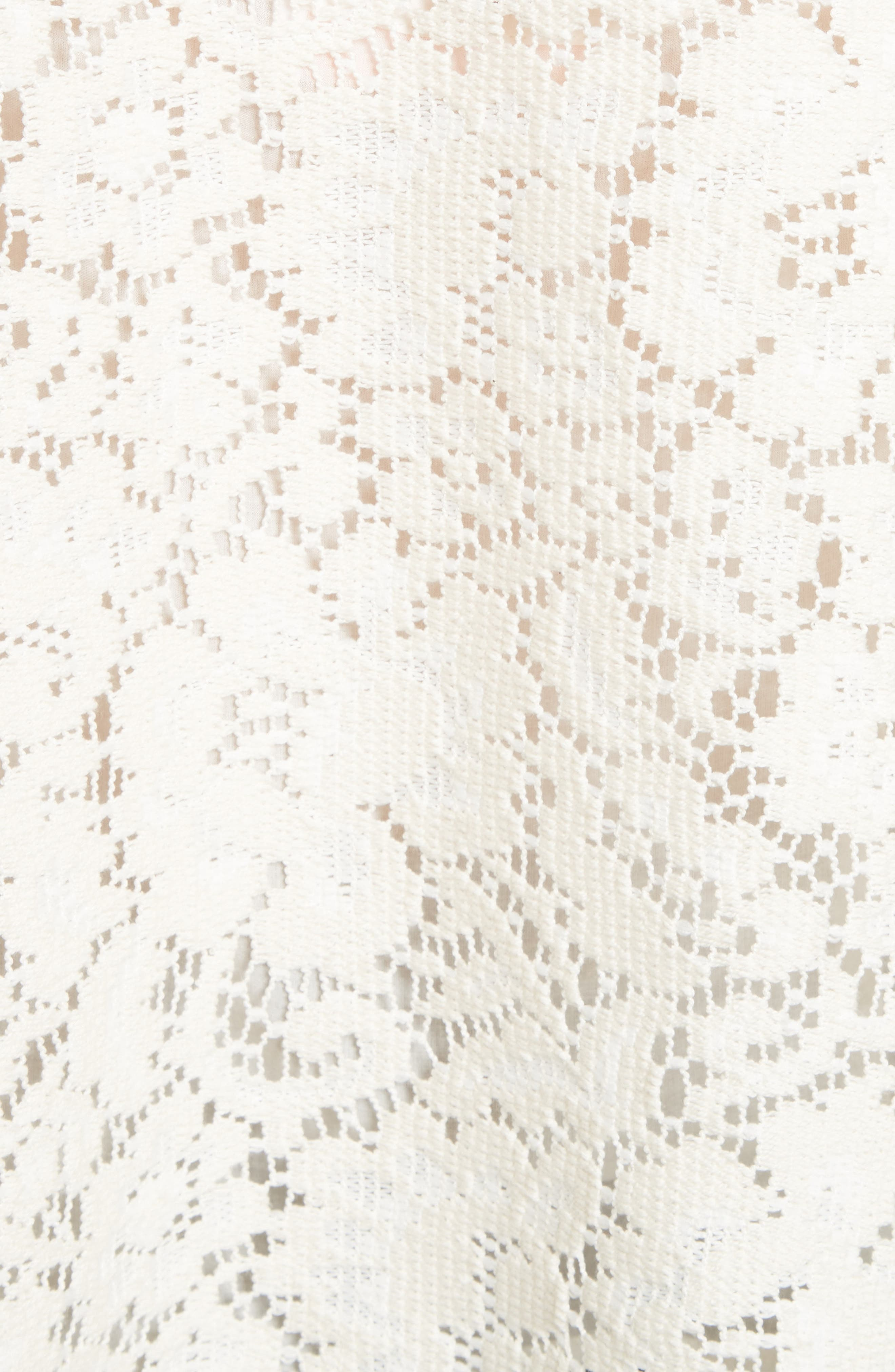 Ruffle Lace Blouse,                             Alternate thumbnail 5, color,                             900