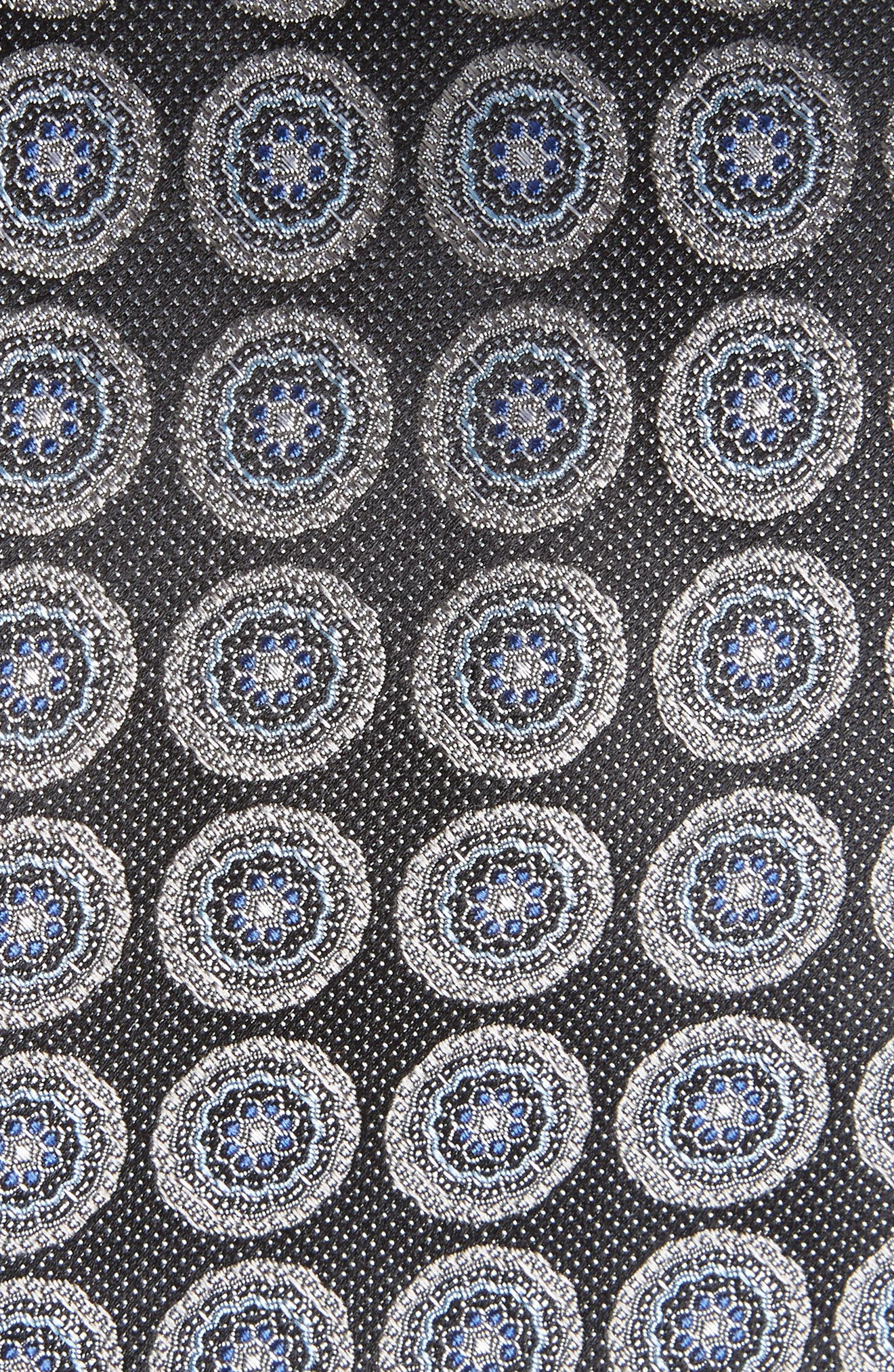 Pinpoint Medallion Silk Tie,                             Alternate thumbnail 7, color,