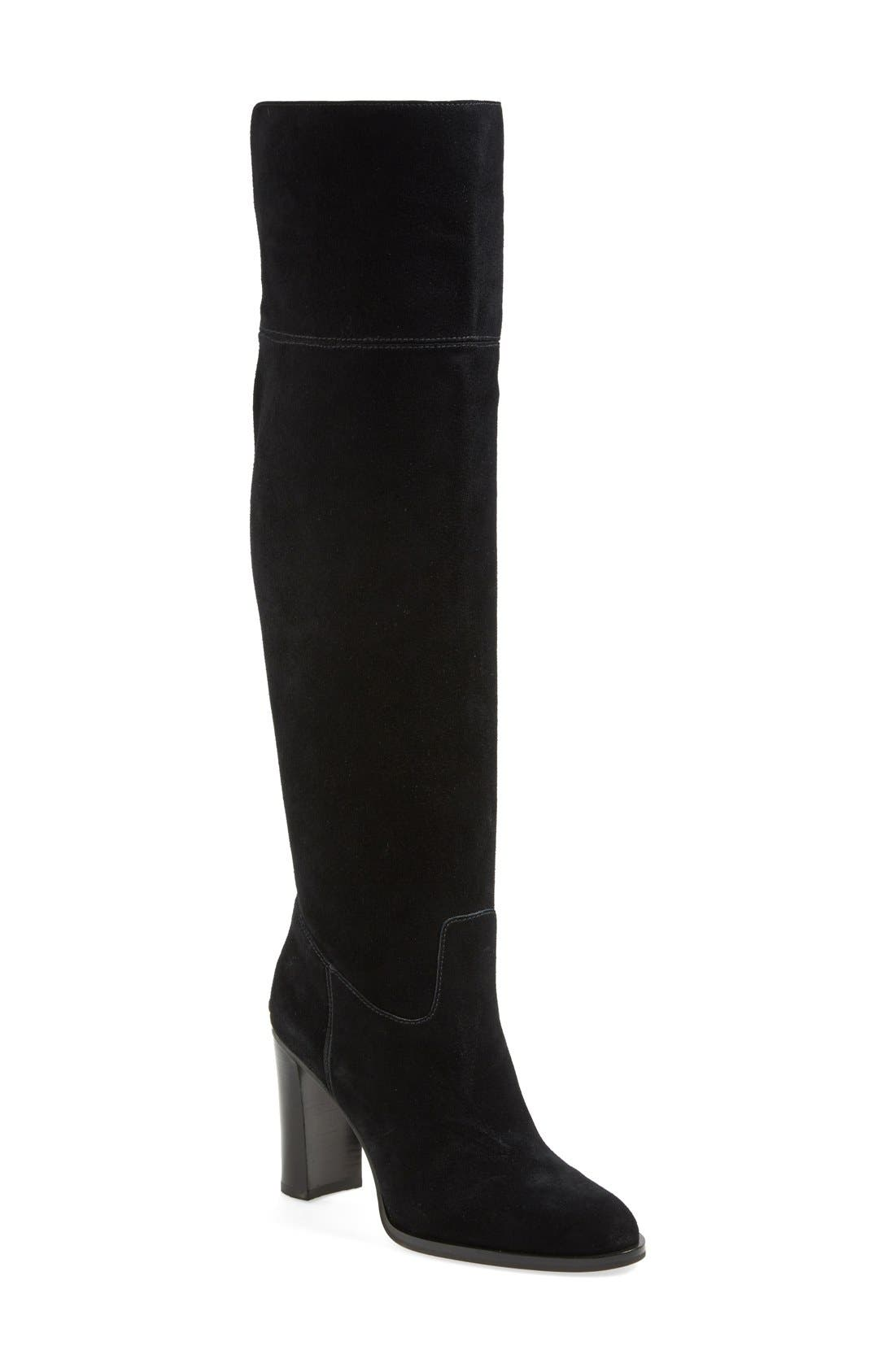 'Regina' Over the Knee Boot,                             Main thumbnail 1, color,                             001
