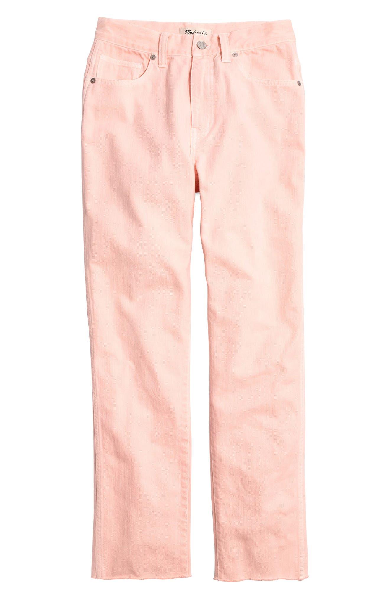 Garment Dyed High Waist Straight Leg Jeans,                             Alternate thumbnail 6, color,                             650