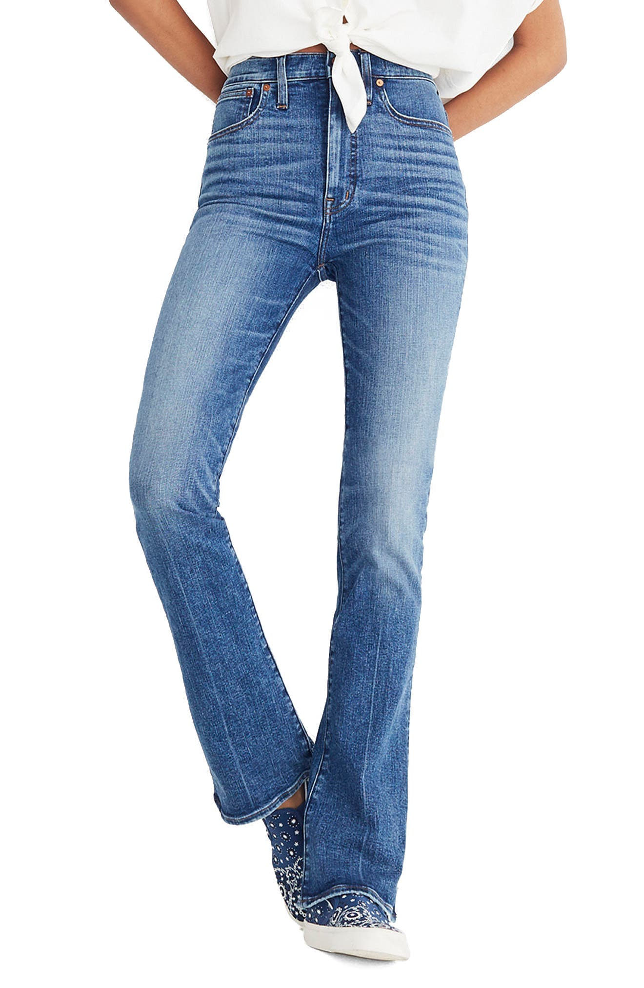 Skinny Flare Leg Jeans,                         Main,                         color, GARLAND