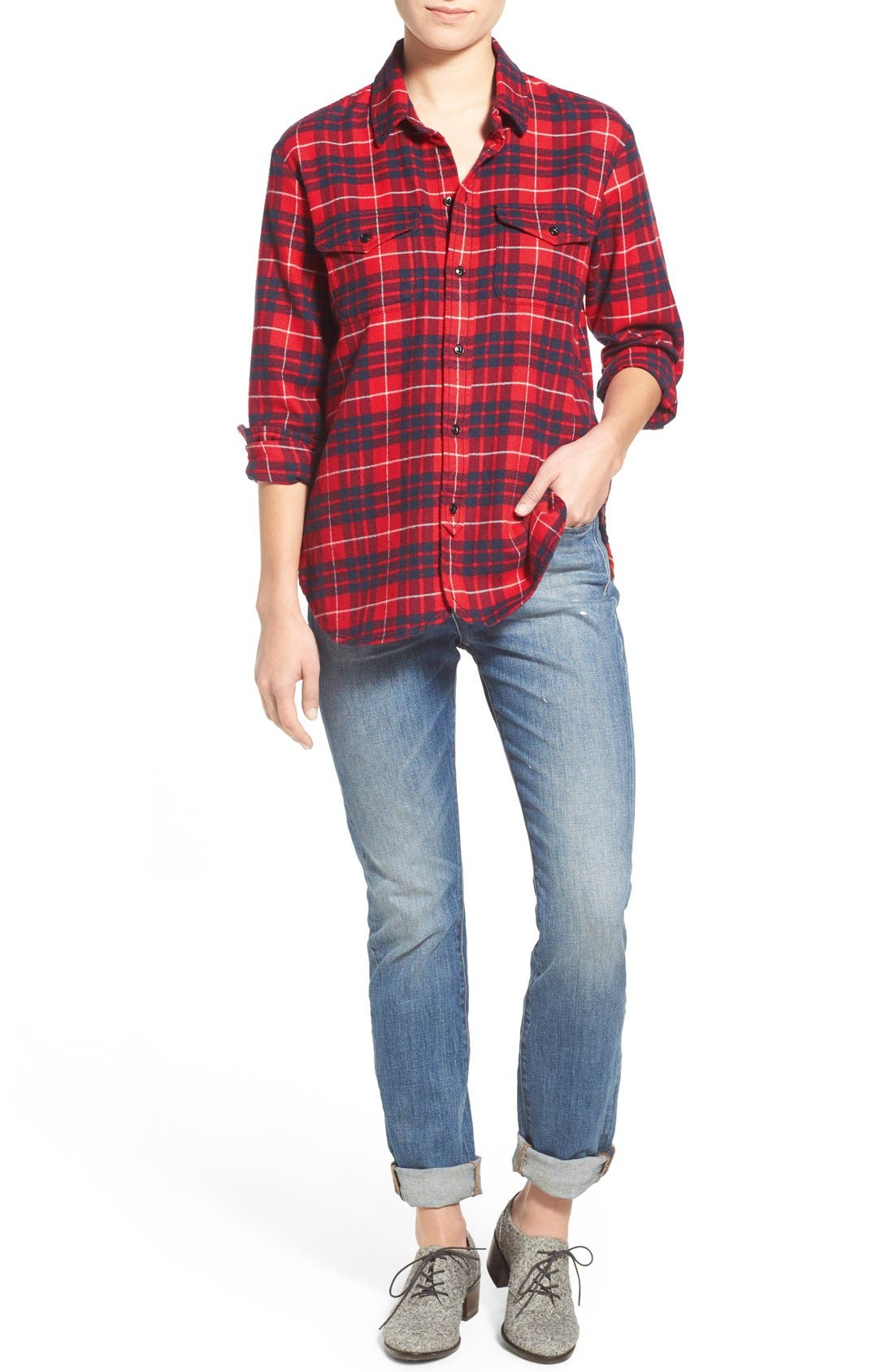 'Perfect Fall' Jeans,                             Alternate thumbnail 4, color,                             400